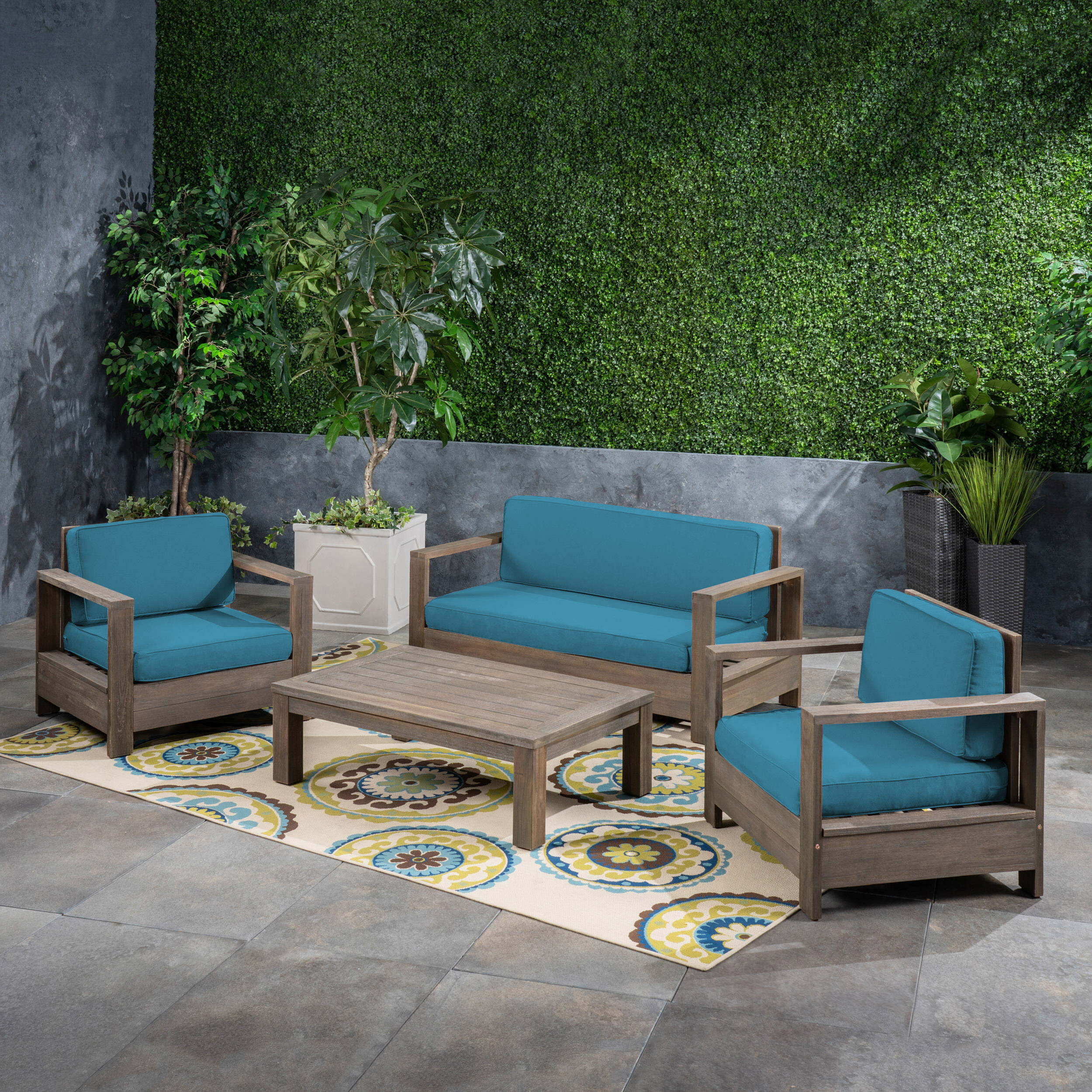 Landis Loveseats With Cushions Regarding Best And Newest Landis 4 Piece Sofa Seating Group With Cushions (View 6 of 25)