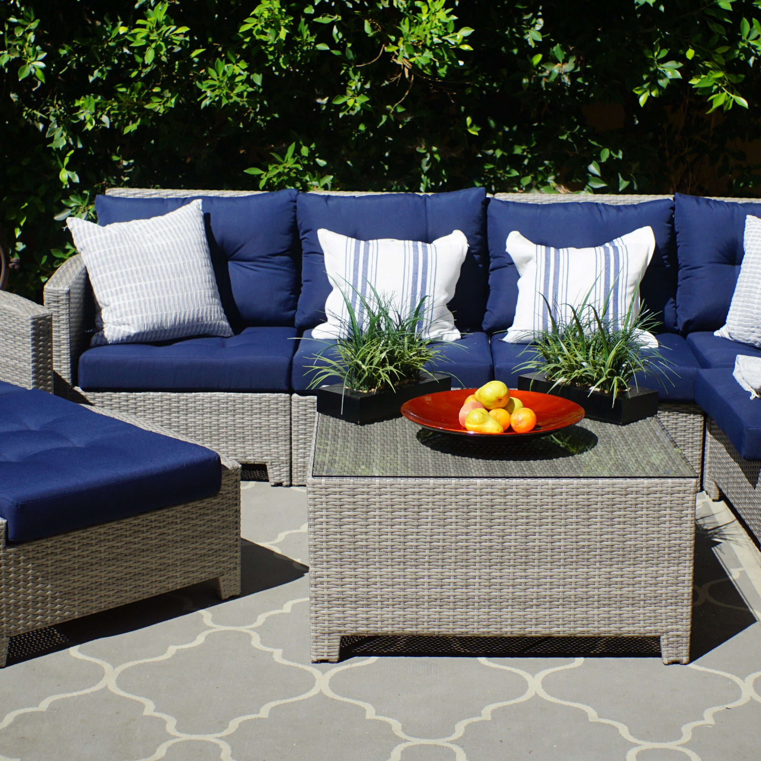 Latest Burley 8 Piece Sectional Seating Group With Cushions In Boyce Outdoor Patio Sectionals With Cushions (View 9 of 25)