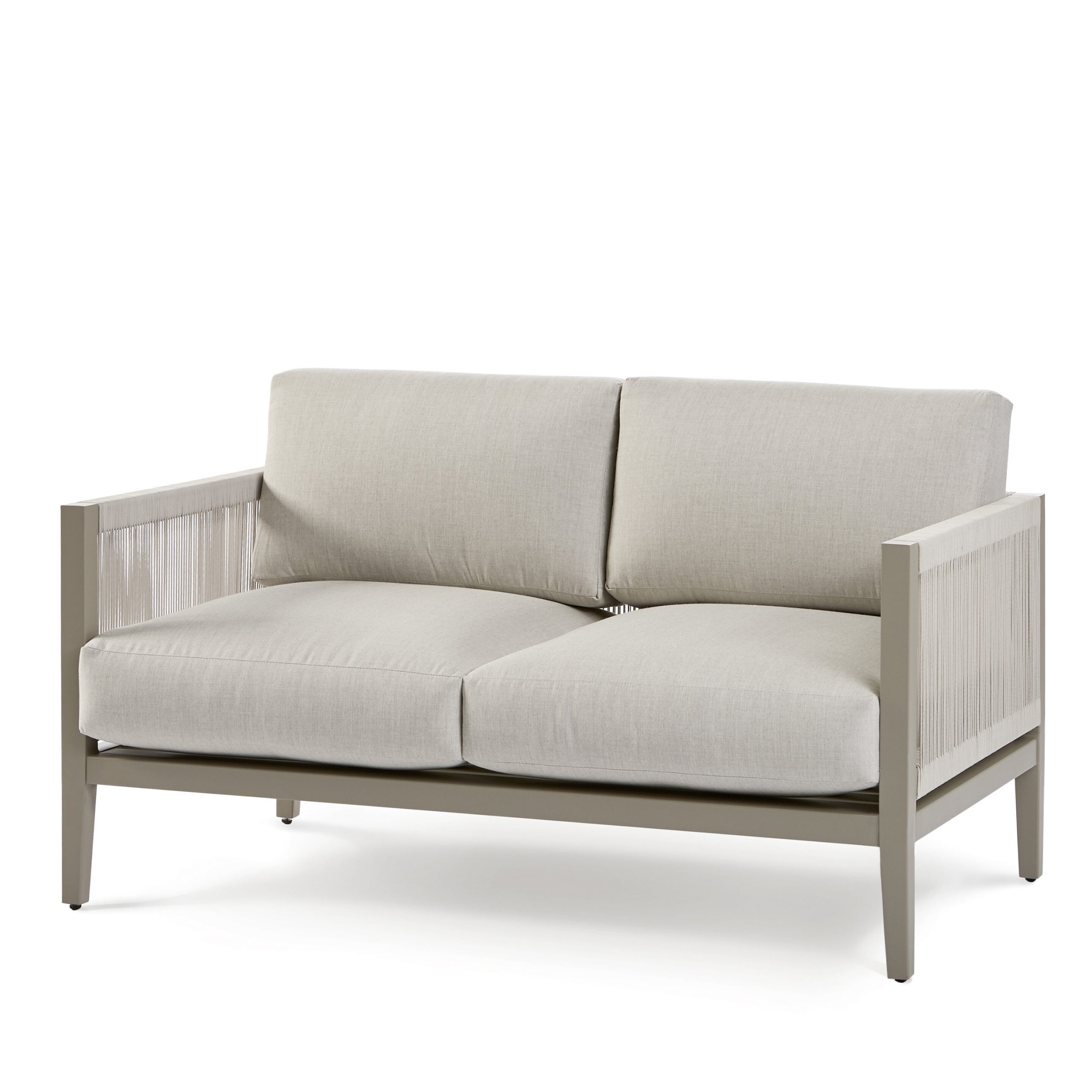 Latest Kari Loveseat With Sunbrella Cushions Regarding Jamilla Teak Patio Sofas With Cushion (Gallery 23 of 25)