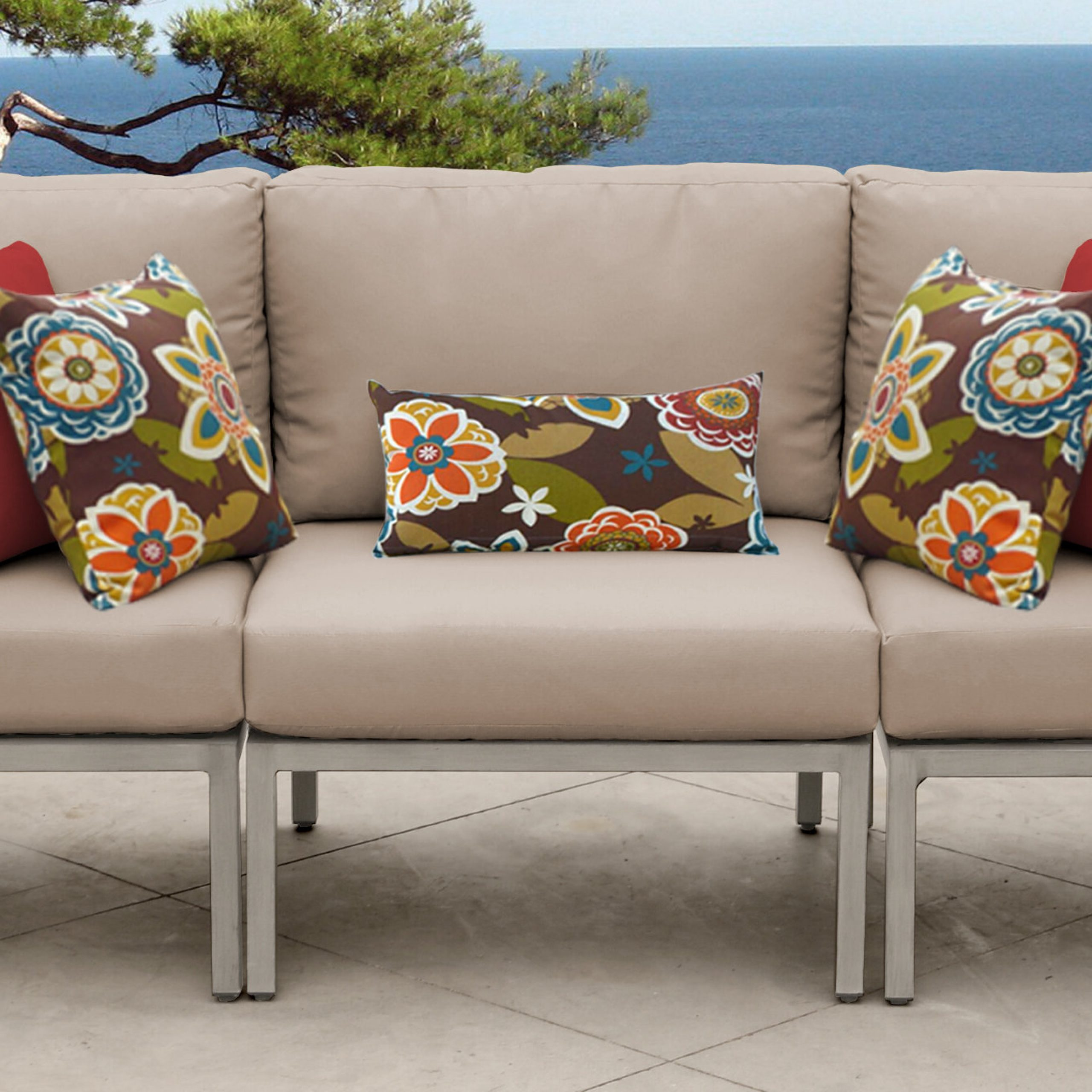 Latest Tk Classics Carlisle Patio Sofa With Cushions Intended For Jamilla Teak Patio Sofas With Cushion (View 14 of 25)