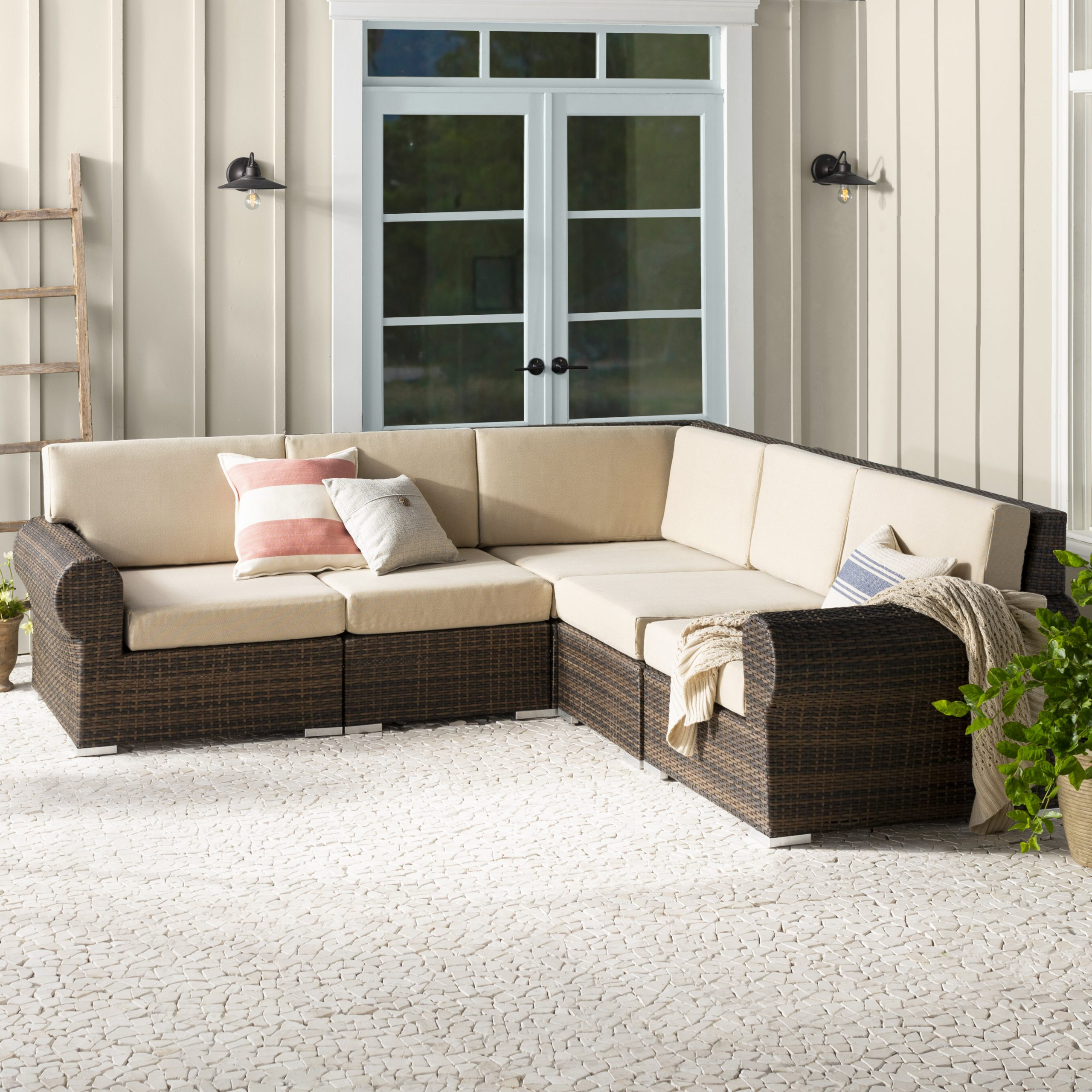 Lawson Patio Sofas With Cushions Inside Current Brookhaven Patio Sectional With Cushions (View 10 of 25)