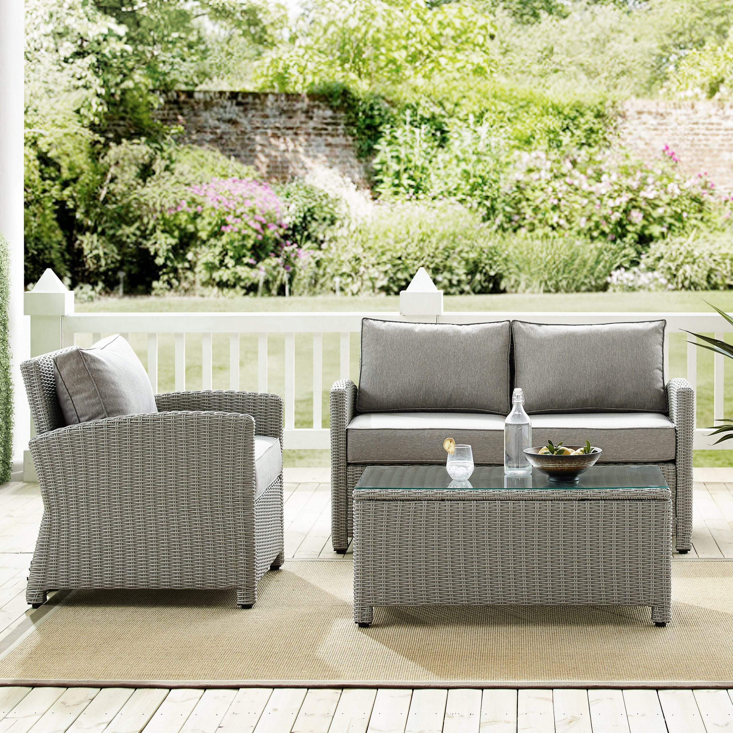 Lawson Patio Sofas With Cushions Intended For Most Recent Lawson 3 Piece Sofa Seating Group With Cushions (View 12 of 25)