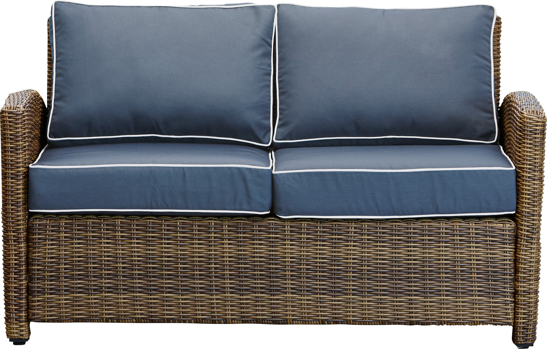 Lawson Wicker Loveseat With Cushions In Best And Newest Linwood Loveseats With Cushions (View 21 of 25)