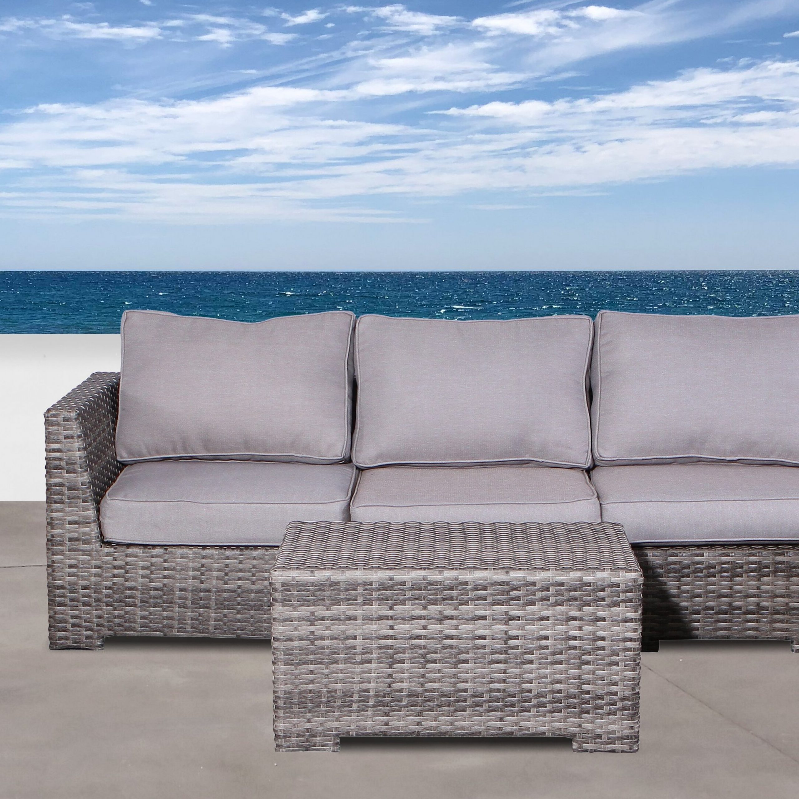 Letona 4 Piece Sectional Set With Cushions With Regard To Widely Used Letona Patio Sectionals With Cushions (Gallery 3 of 25)