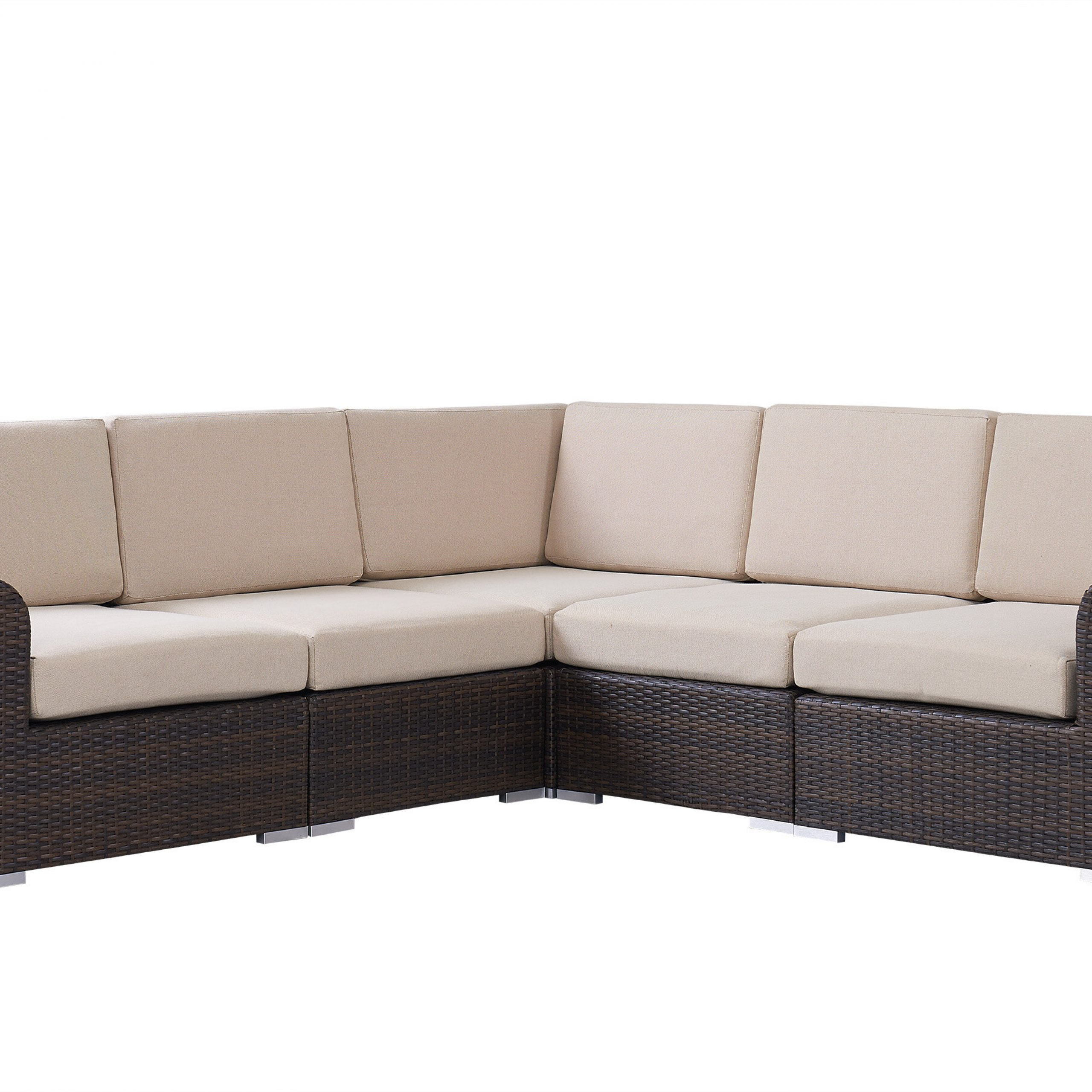 Letona Patio Sectionals With Cushions Inside Recent Brookhaven Patio Sectional With Cushions (View 8 of 25)