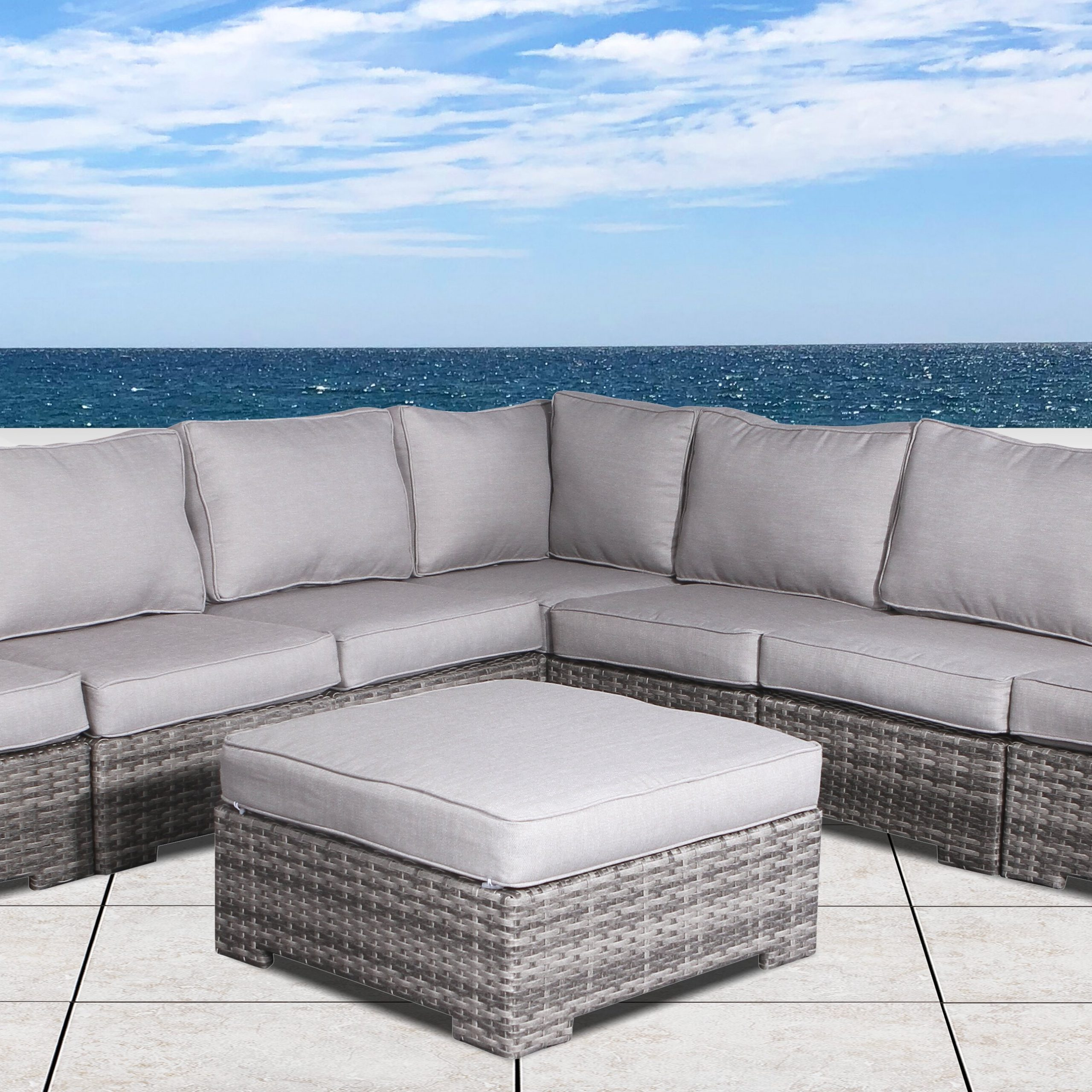 Featured Photo of Letona Patio Sectionals With Cushions