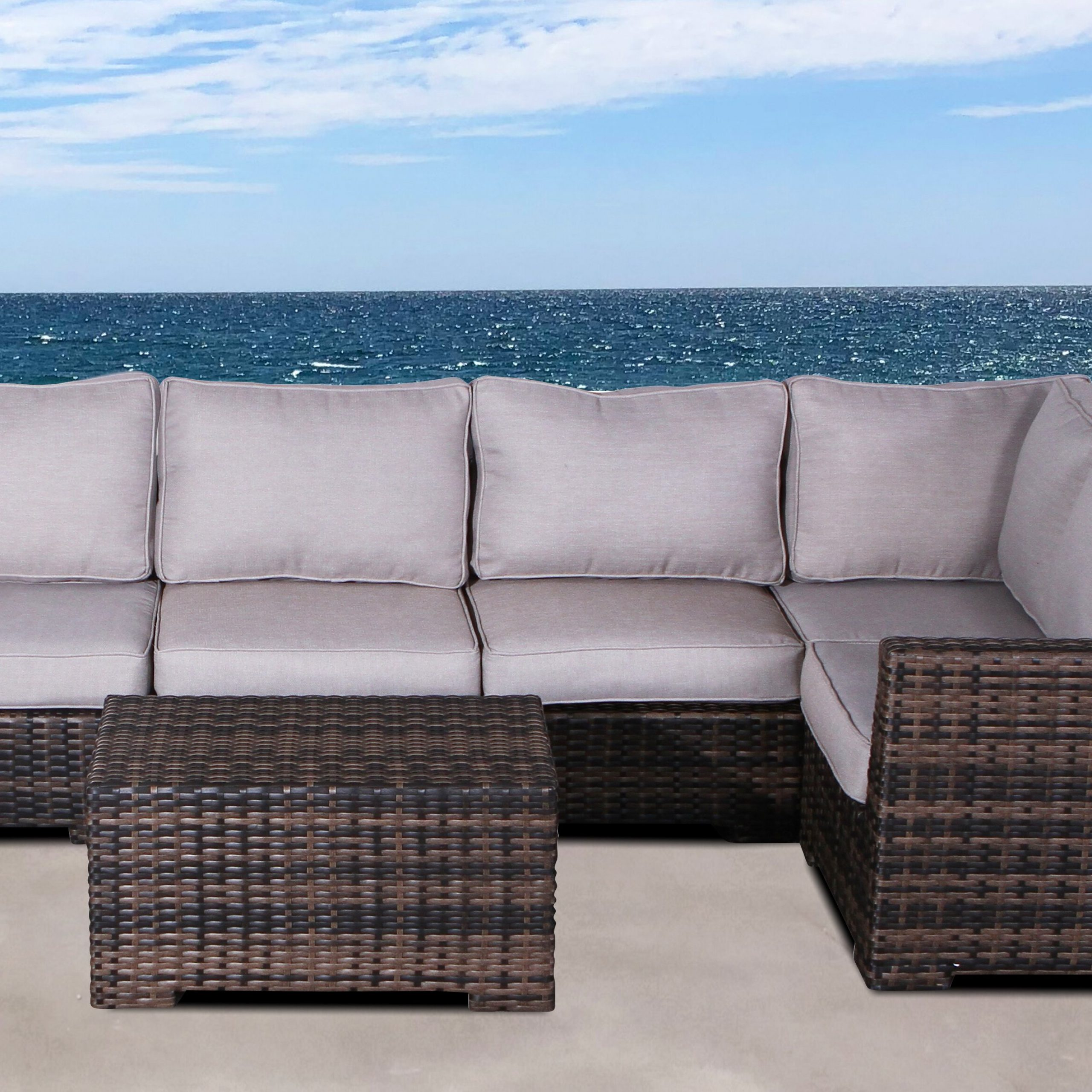 Letona Resort 2 Piece Sectional Set With Cushions With Most Popular Letona Patio Sectionals With Cushions (View 9 of 25)