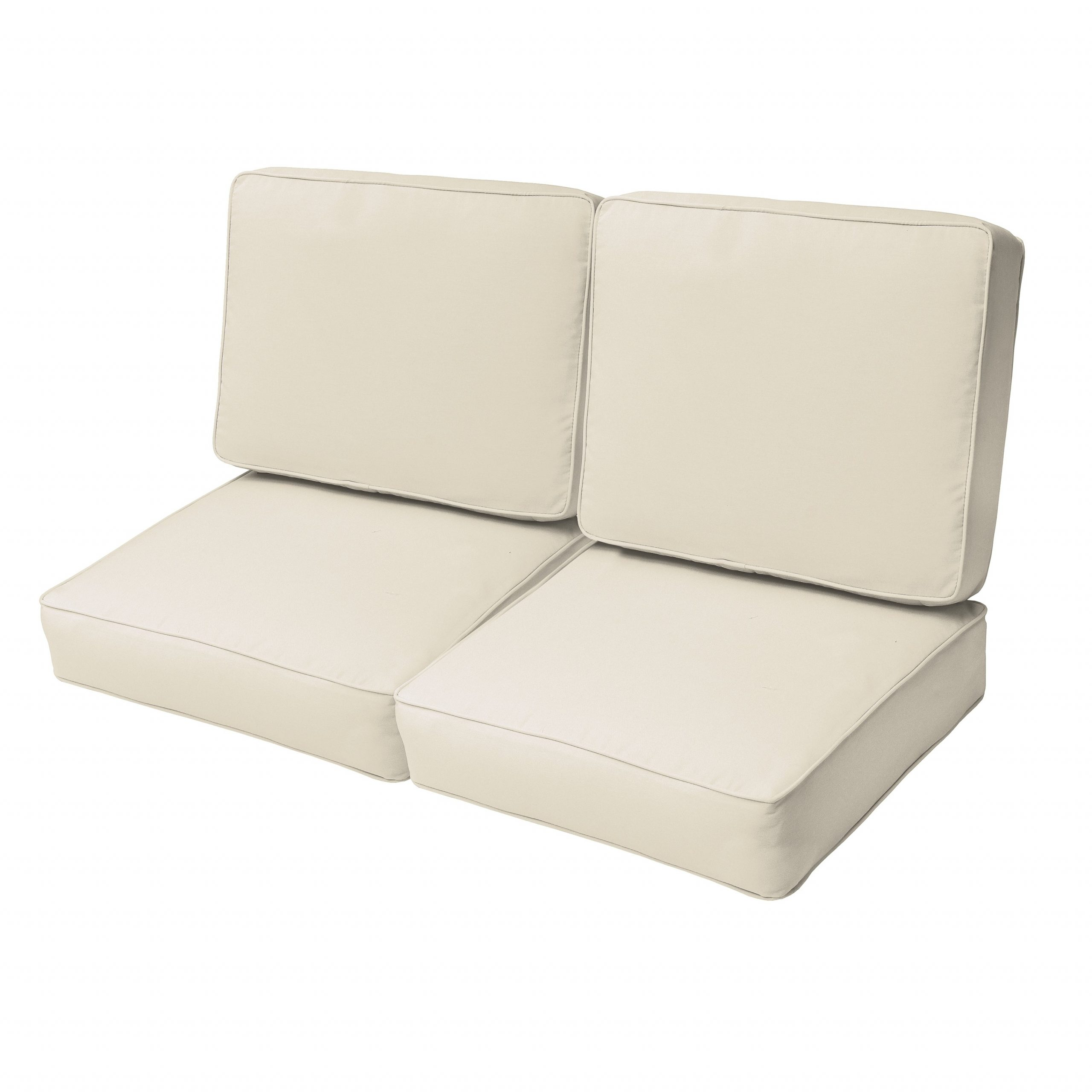 Loveseats With Sunbrella Cushions Pertaining To Favorite Sloane Ivory 47 Inch Indoor/ Outdoor Corded Loveseat Cushion Set (Gallery 19 of 25)