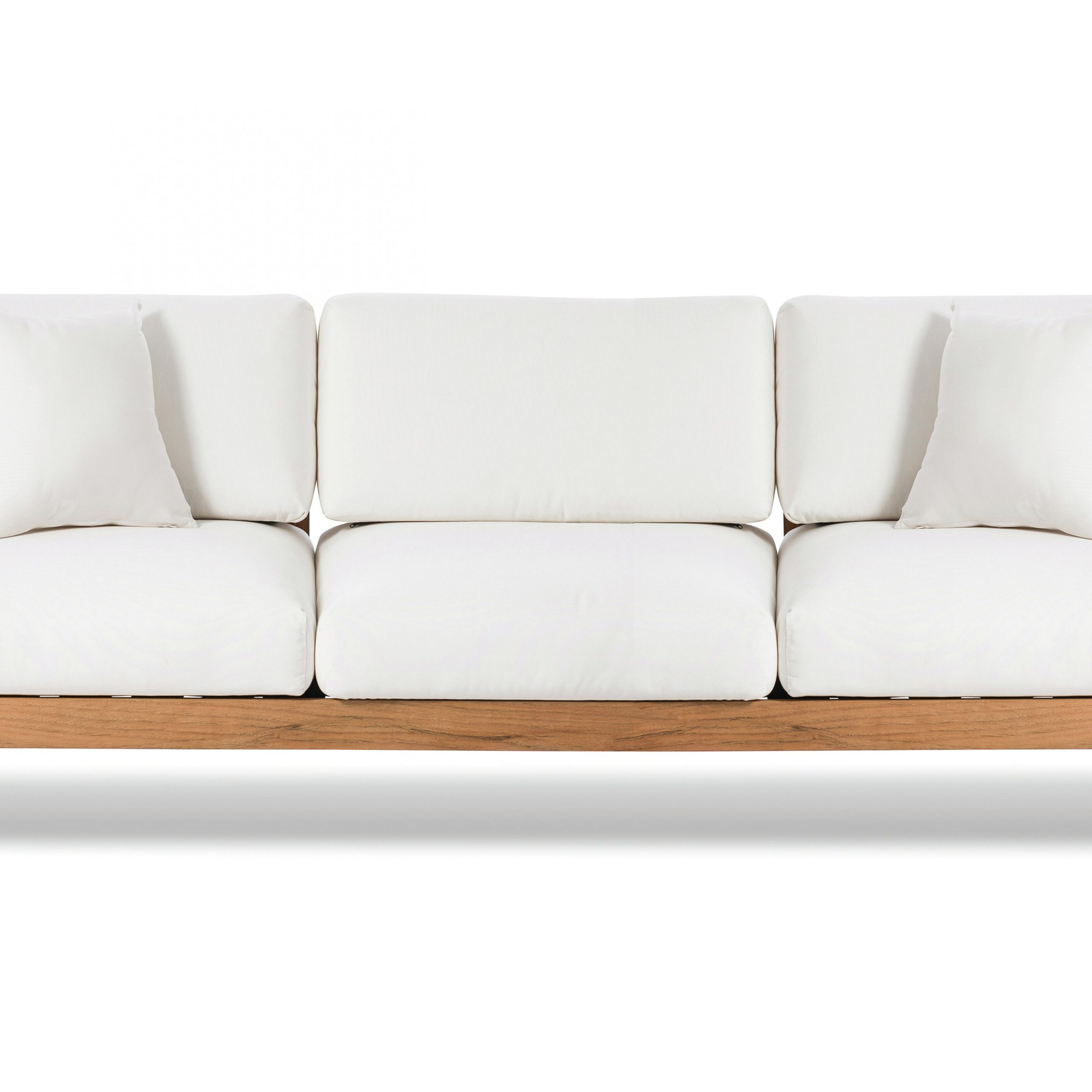 Maro Teak Patio Sofa With Sunbrella Cushions Intended For Well Known O'kean Teak Patio Sofas With Cushions (Gallery 10 of 25)