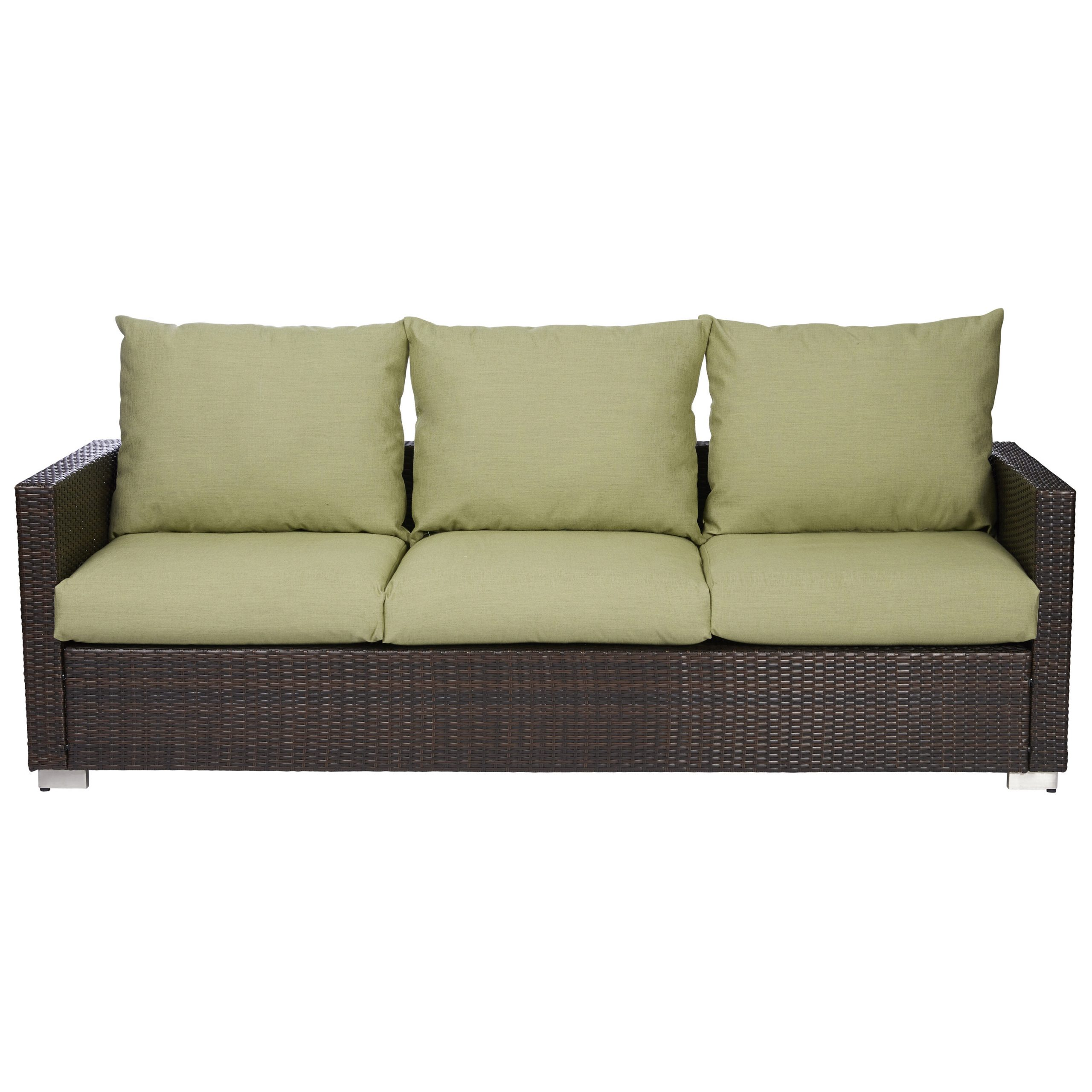 Mcmanis Patio Sofa With Cushion Throughout Well Liked Zeman Ultra Comfortable Upholstered Anodized Aluminum Loveseats With Cushion (Gallery 6 of 25)