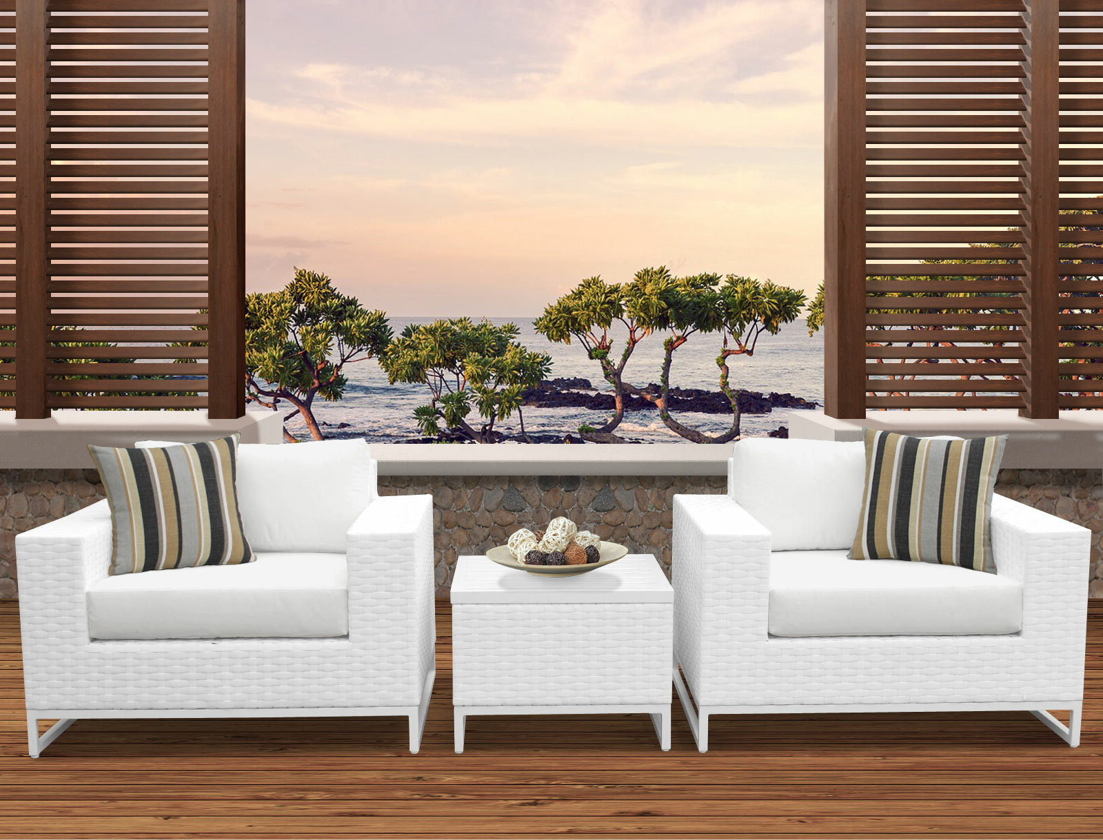 Menifee 3 Piece Conversation Set With Cushions With Well Liked Menifee Loveseats With Cushions (View 6 of 25)