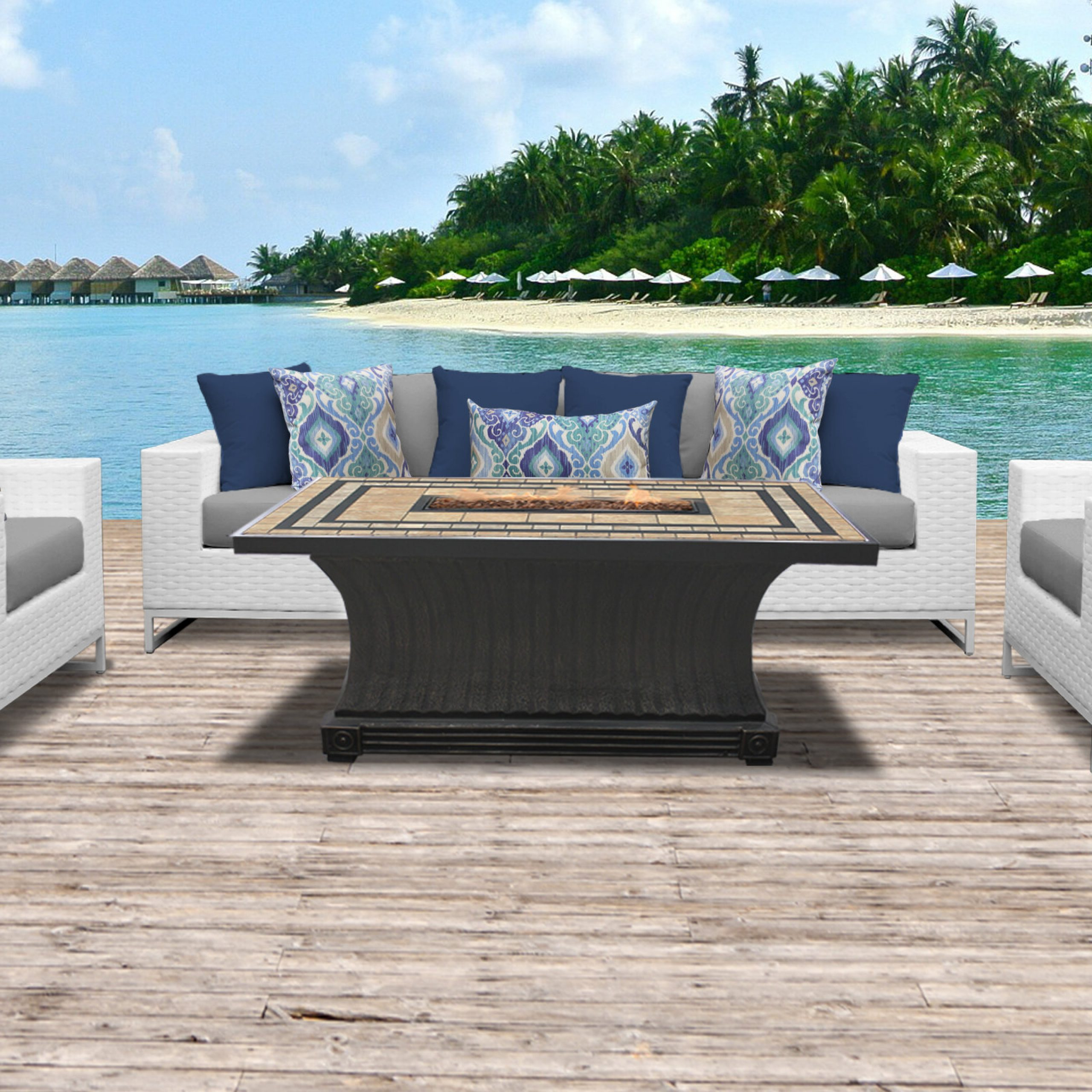 Menifee 6 Piece Sofa Seating Group With Cushions Intended For Recent Menifee Patio Sofas With Cushions (View 7 of 25)