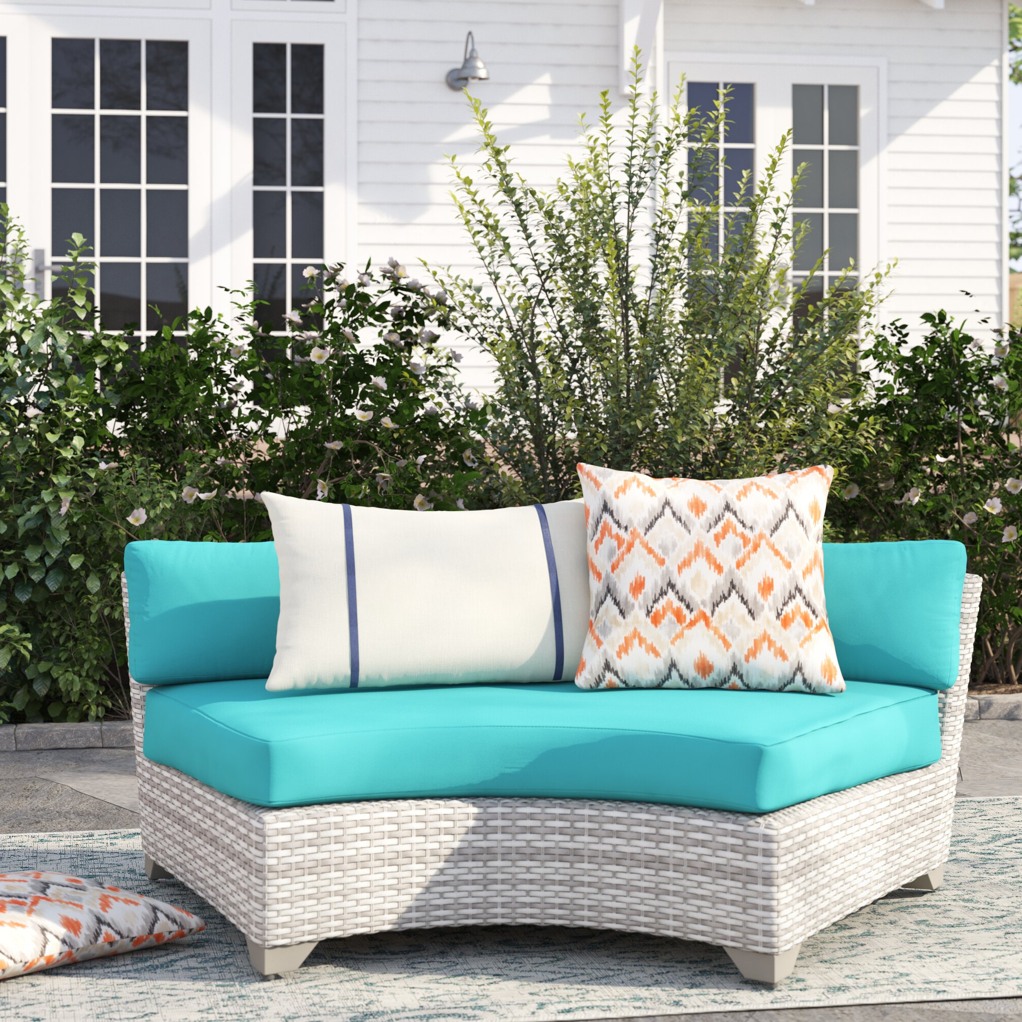Menifee Loveseats With Cushions Intended For Most Popular Falmouth Patio Sofa With Cushions (View 9 of 25)