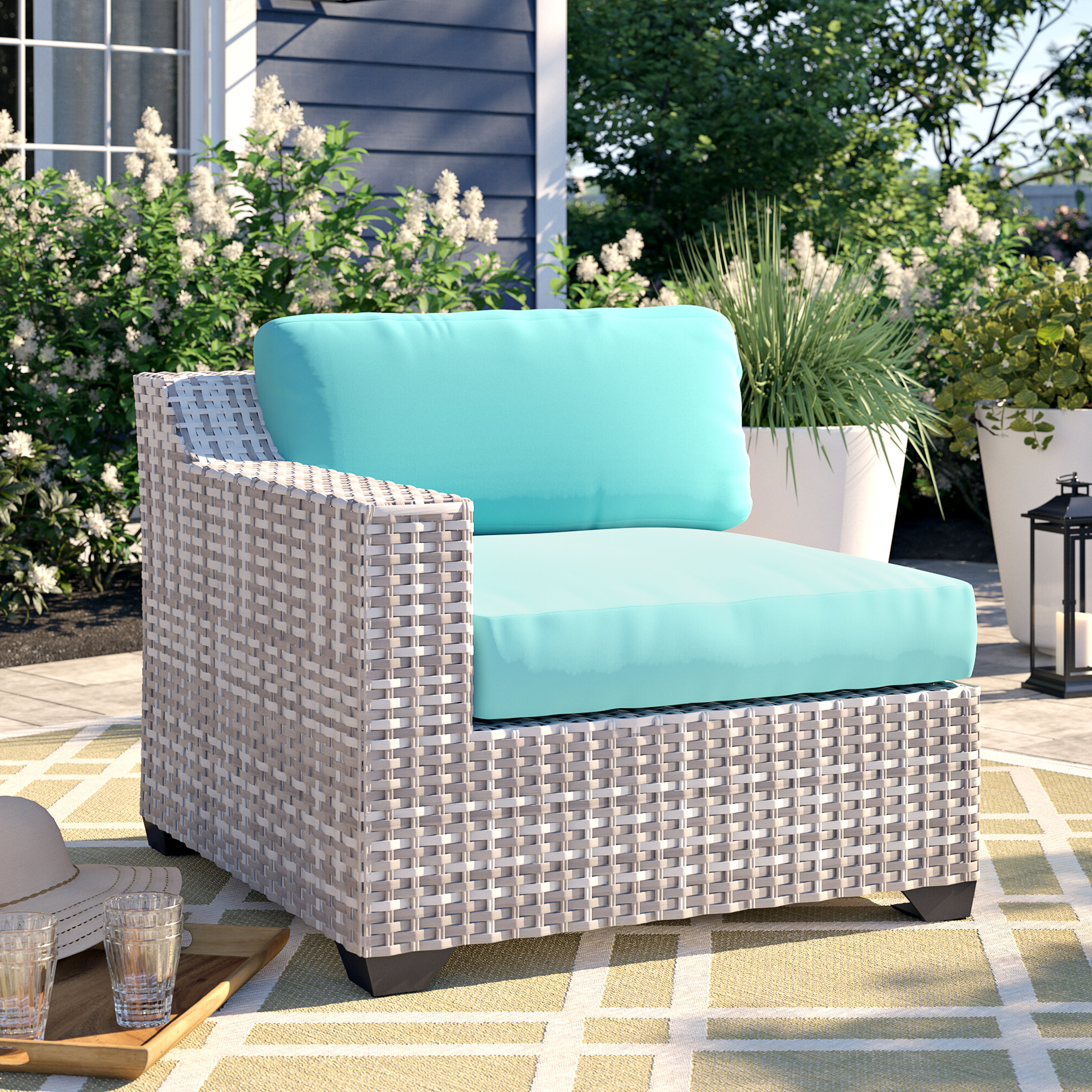 Menifee Loveseats With Cushions Regarding Recent Falmouth Patio Loveseat With Cushions (View 7 of 25)