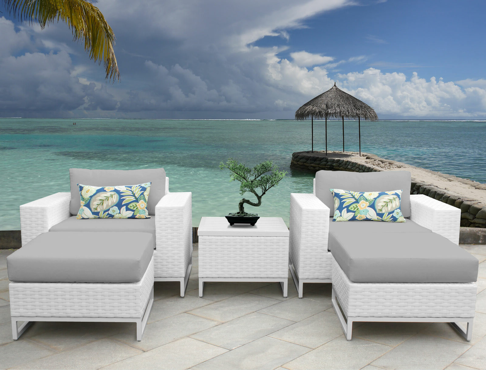Menifee Patio Sofas With Cushions Throughout Well Known Menifee 5 Piece Conversation Set With Cushions (View 16 of 25)