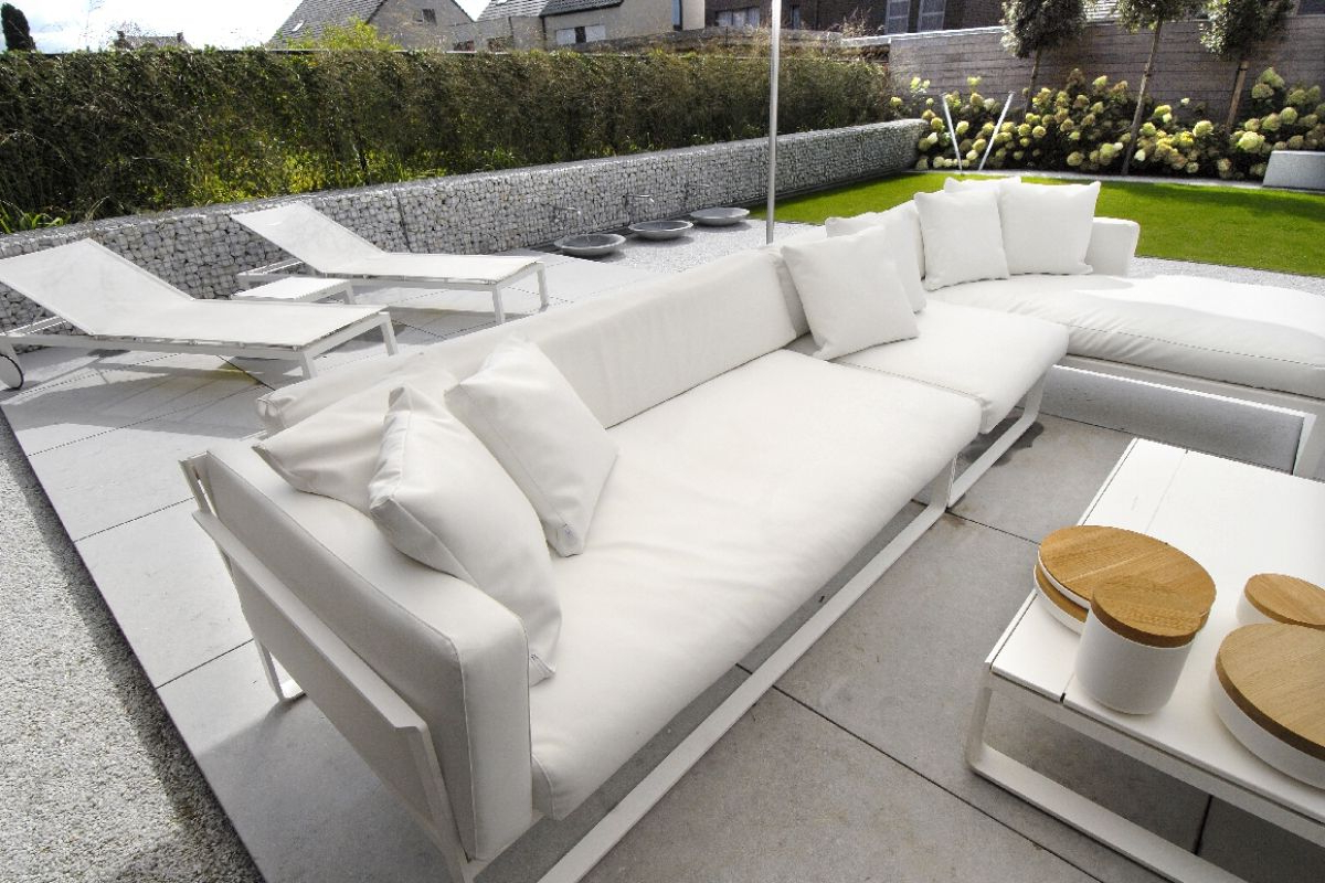 Modern Outdoor Furniture, Terraced With Regard To Brecht Patio Sectionals With Cushions (Gallery 8 of 25)