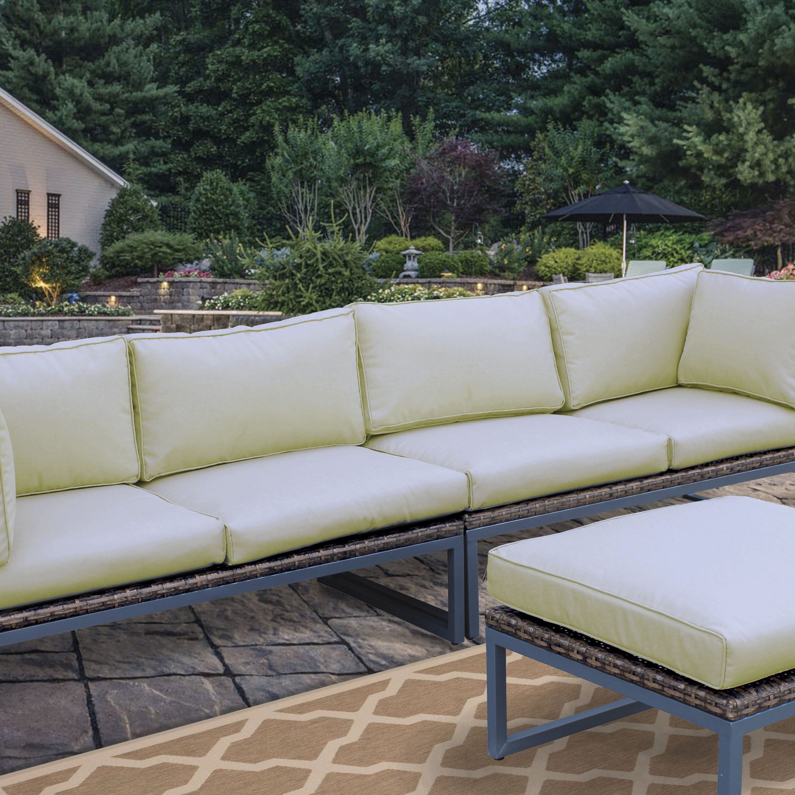 Most Current Brayden Studio Honeycutt Patio Sofa With Cushions & Reviews In Baca Patio Sofas With Cushions (View 17 of 25)