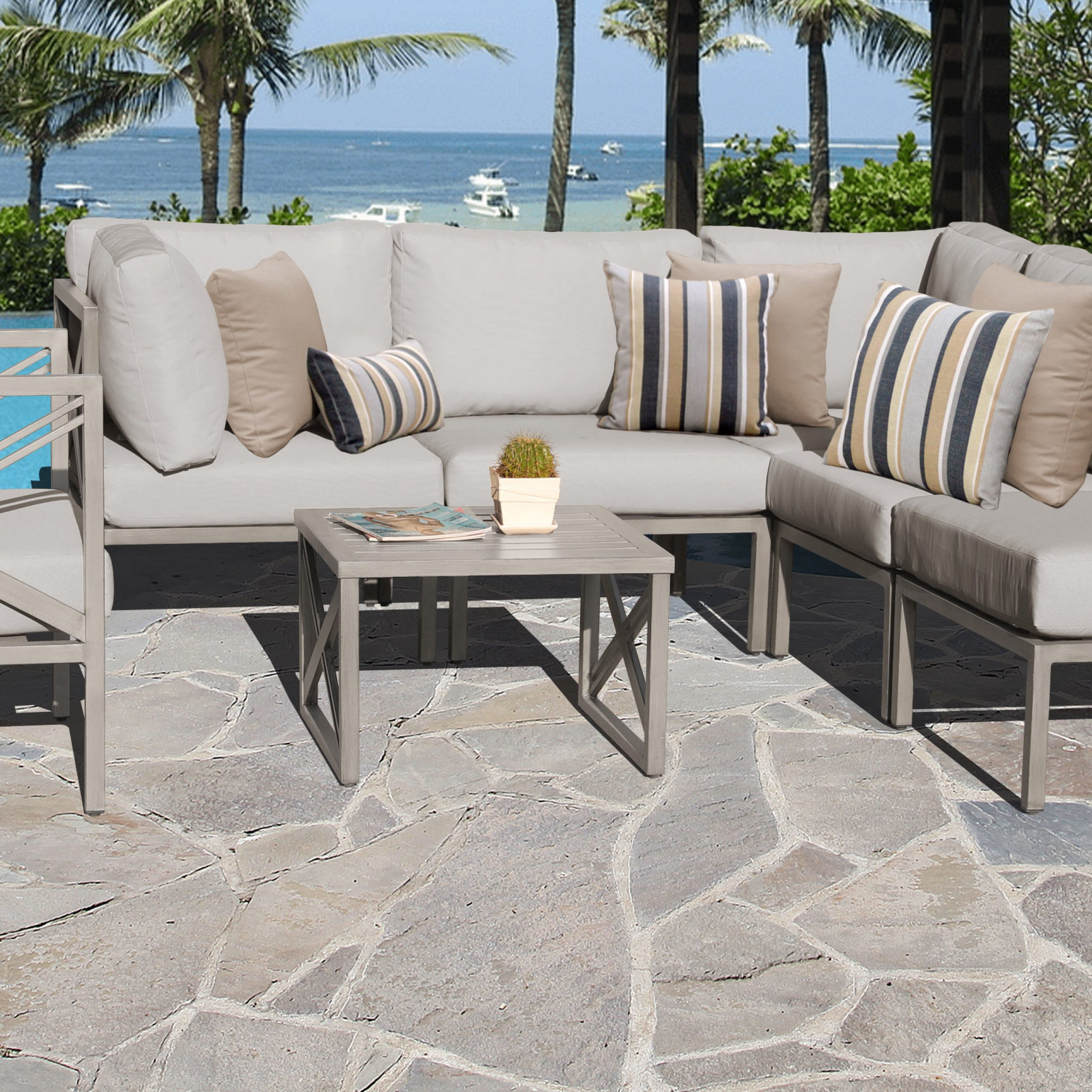 Most Current Carlisle Patio Sofas With Cushions Within Carlisle 7 Piece Outdoor Patio Furniture Deep Seating Set 07D (View 16 of 25)