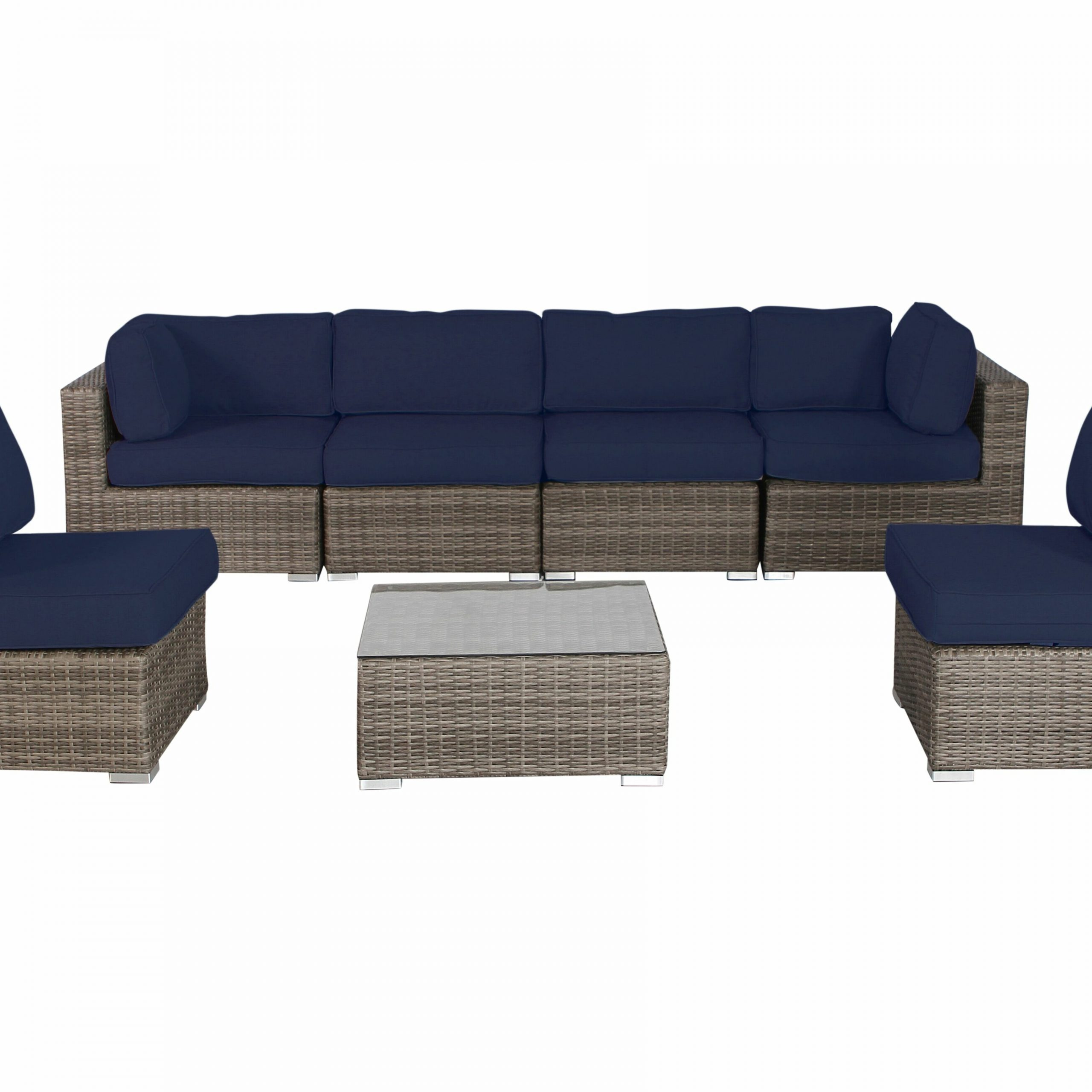 Most Current Deandra 7 Piece Rattan Sectional Set With Cushions Within Deandra Loveseats With Cushions (Gallery 10 of 25)