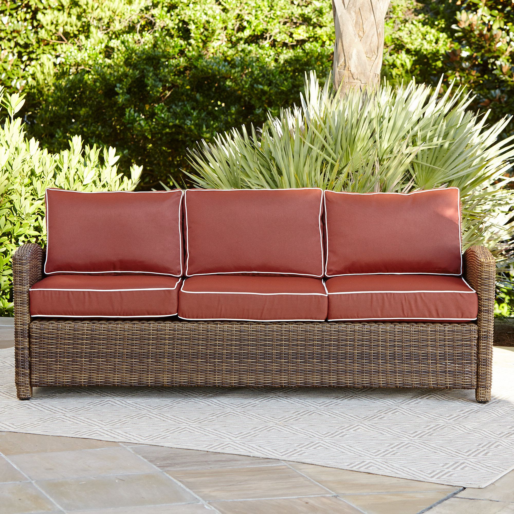 Most Current Lawson Patio Sofas With Cushions Throughout Lawson Patio Sofa With Cushions (Gallery 5 of 25)