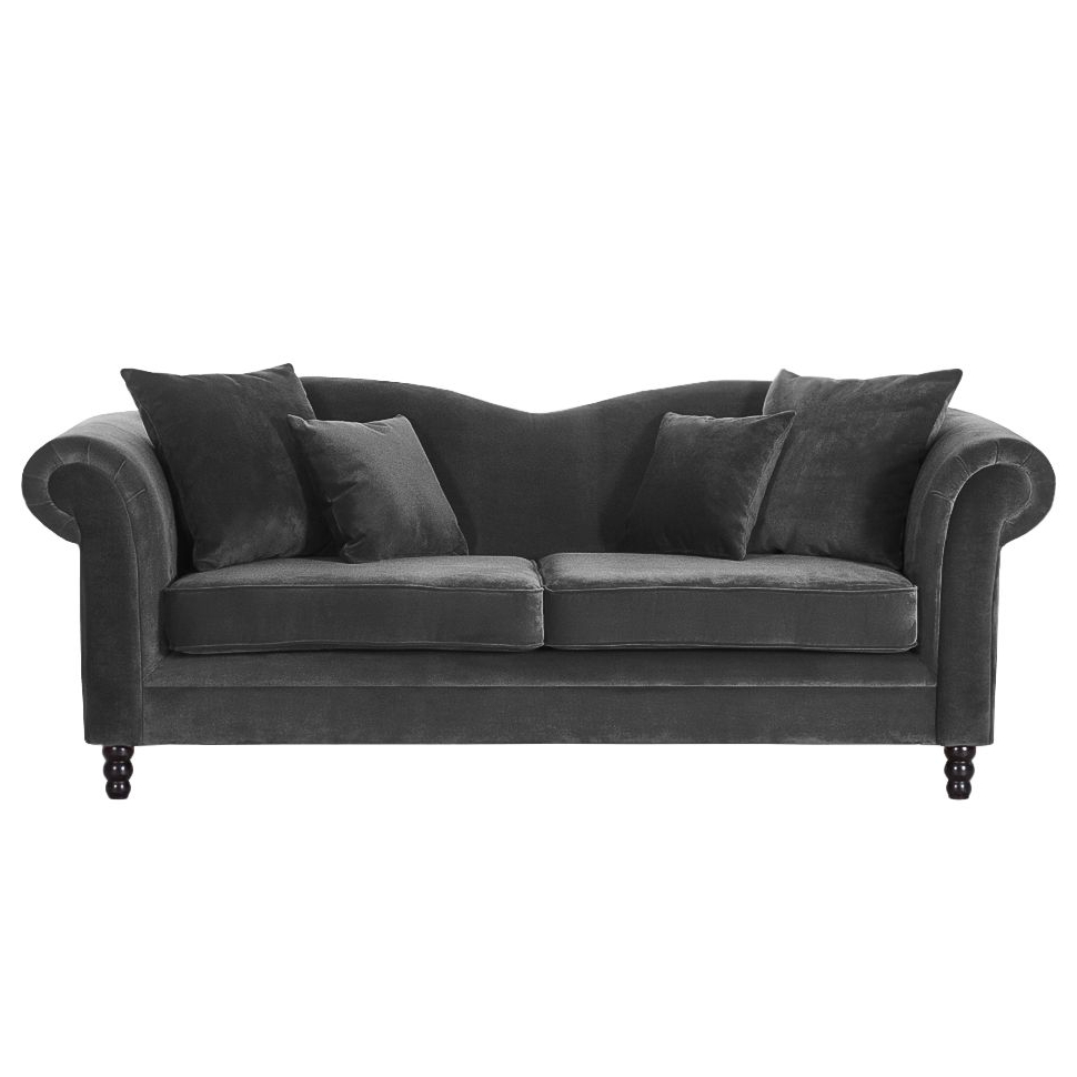 Most Current Sofa York (3 Sitzer) Samt Pertaining To Dayse Contemporary Loveseats With Cushion (View 12 of 25)