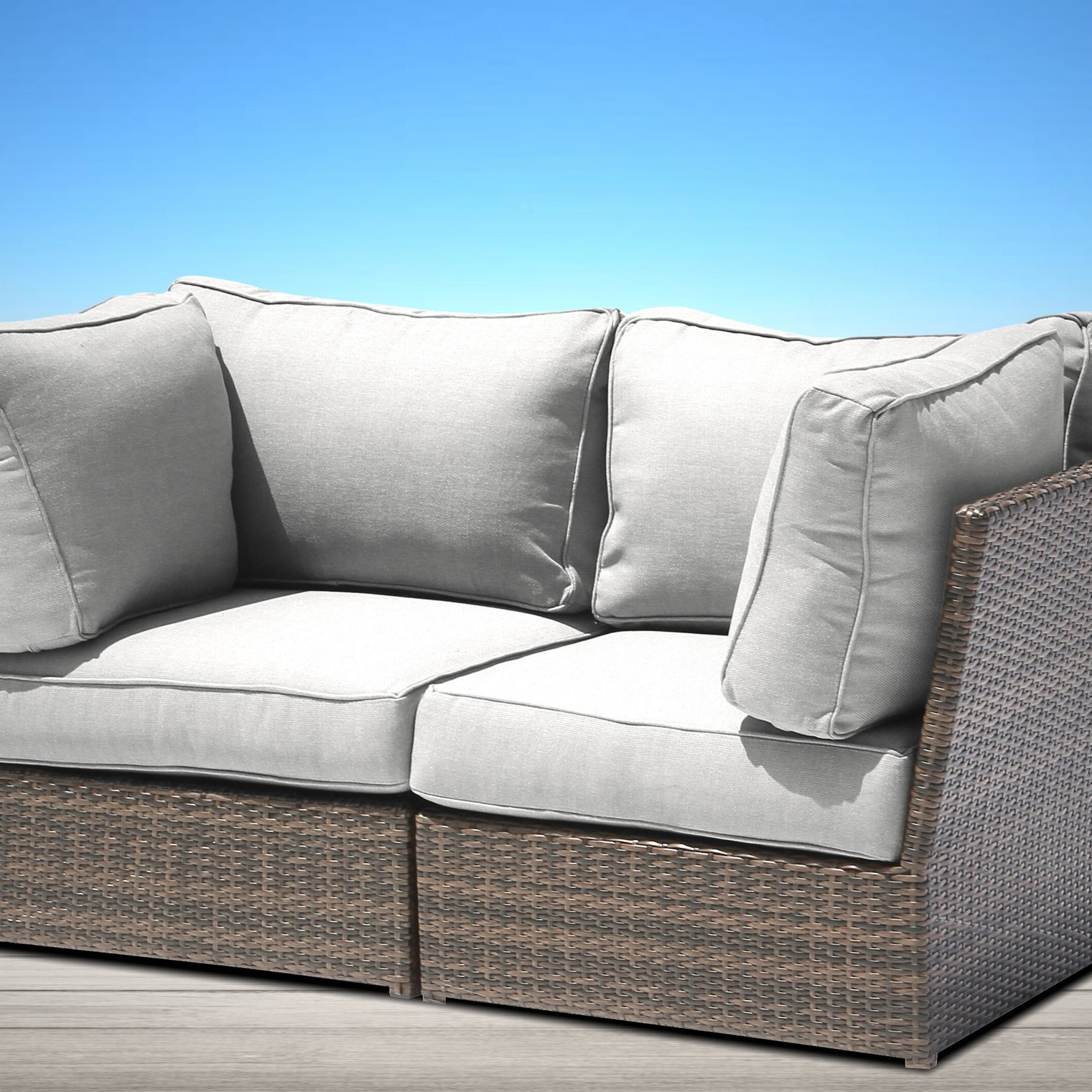 Most Popular Simmerman Loveseat With Cushions Pertaining To Oceanside Outdoor Wicker Loveseats With Cushions (View 10 of 25)
