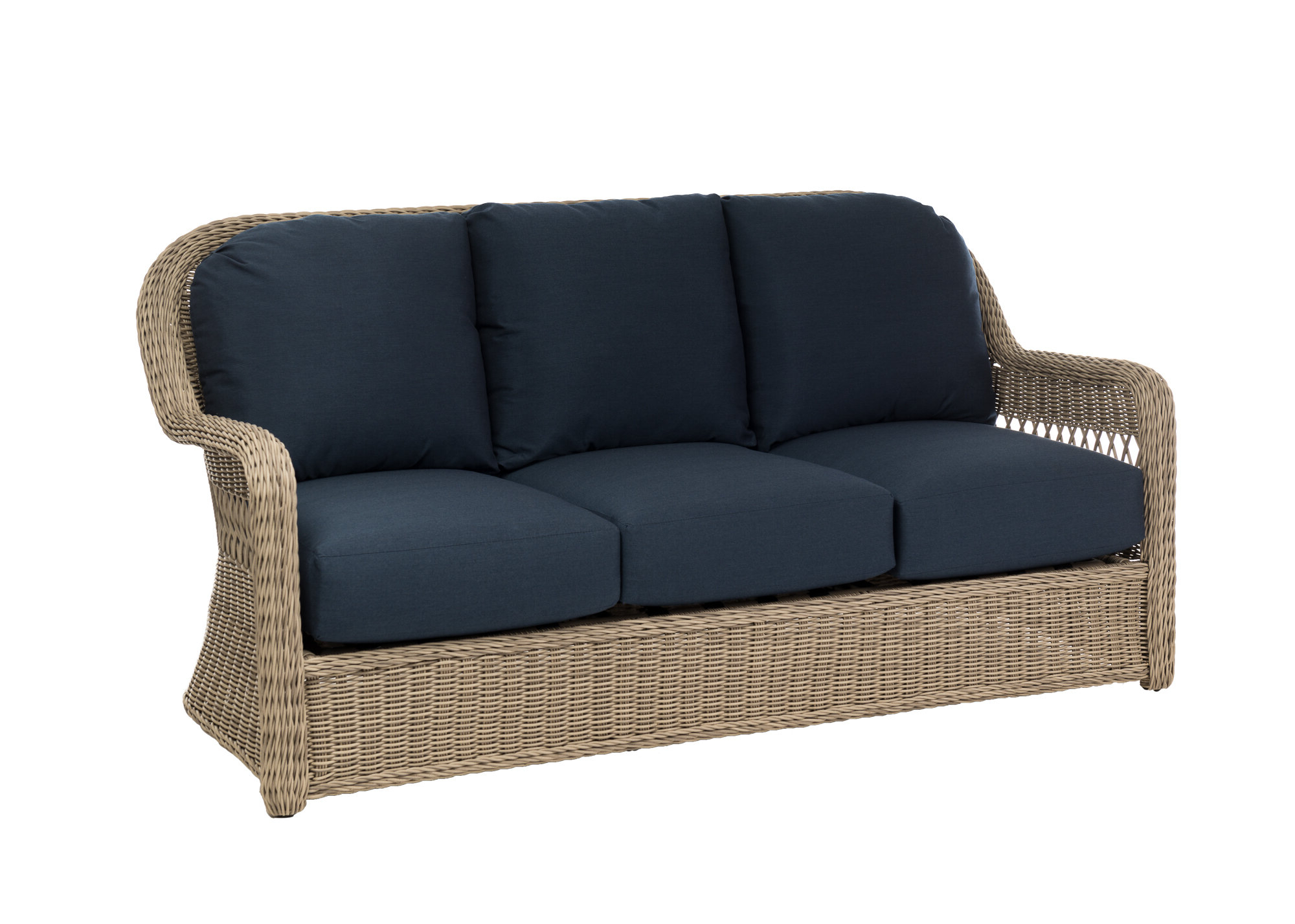 Most Popular Washtenaw Patio Sofa With Cushions Inside Astrid Wicker Patio Sofas With Cushions (View 18 of 25)