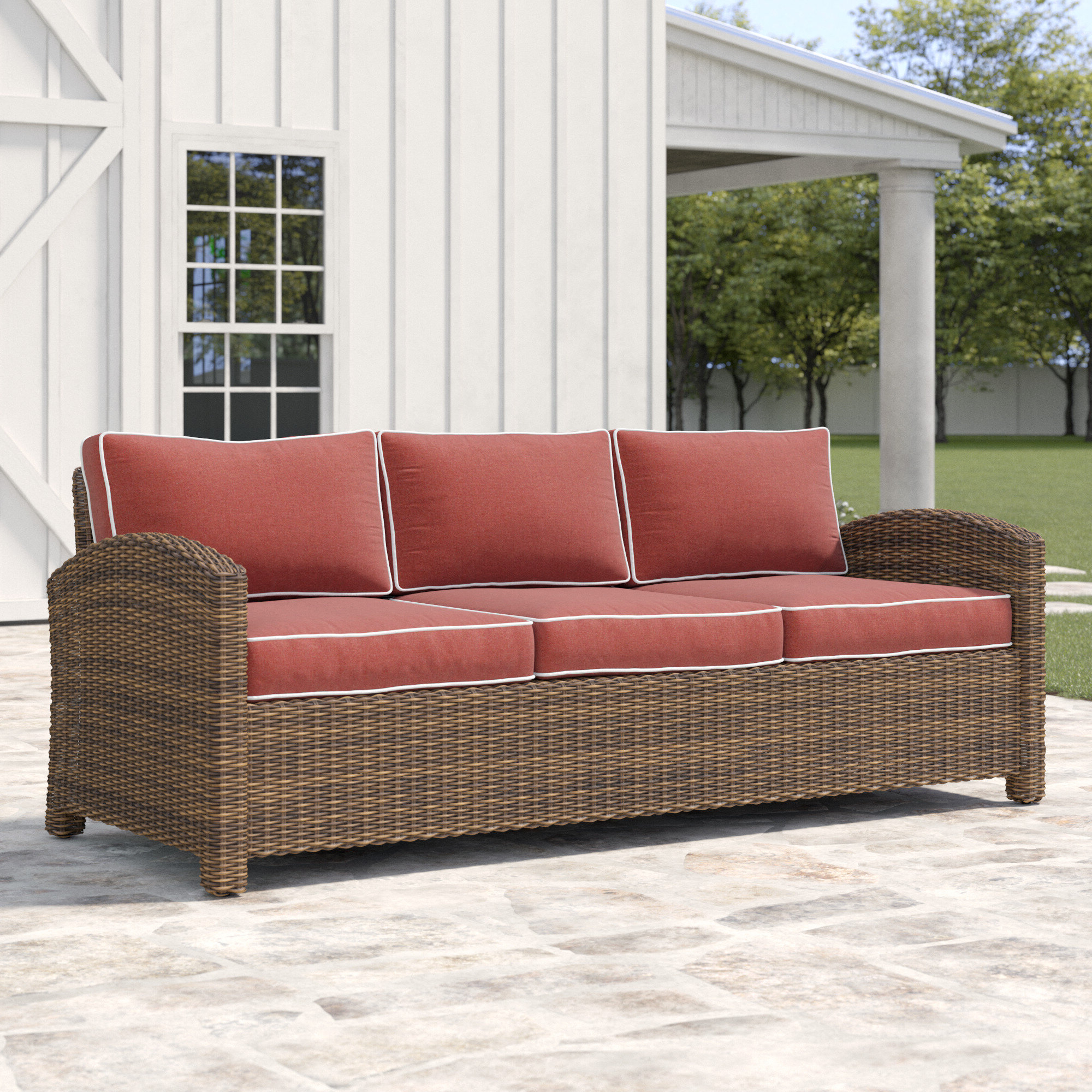 Most Recent Lawson Patio Sofa With Cushions Inside Lawson Patio Sofas With Cushions (View 2 of 25)