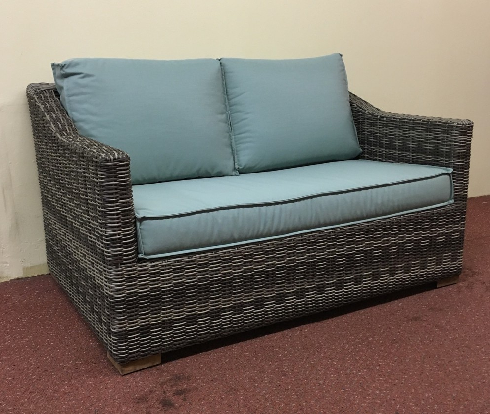 Most Recent Lawson Wicker Loveseats With Cushions Within Furniture: Mesmerizing Wicker Loveseat For Outdoor Or Indoor (Gallery 21 of 25)