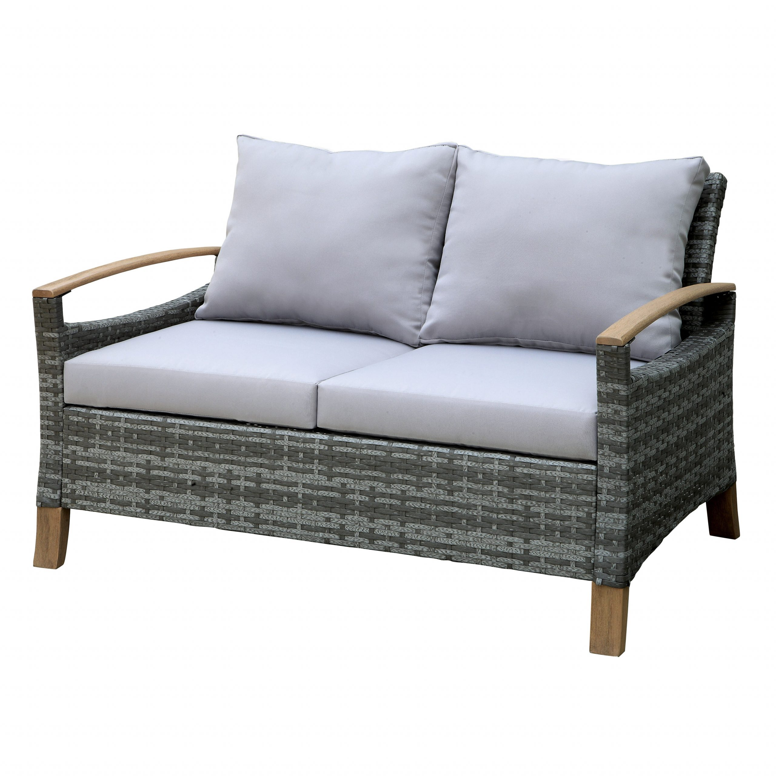 Most Recent Penniman Contemporary Loveseat With Cushions With Regard To Saleem Loveseats With Cushions (View 10 of 25)