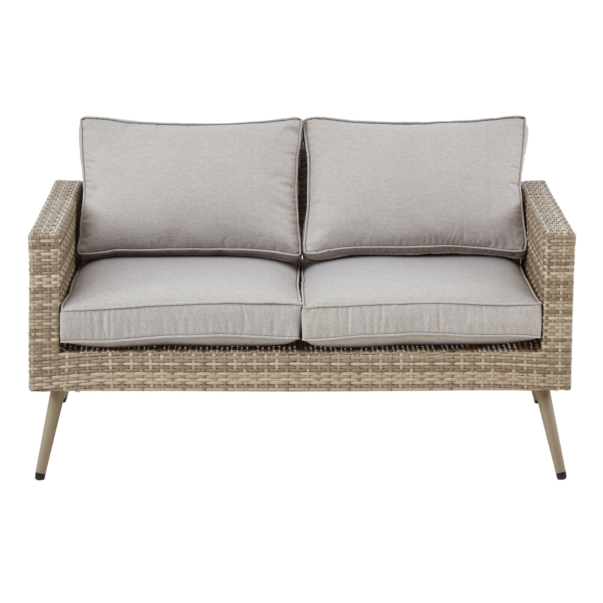 Most Recently Released Pantano Loveseat With Cushions With Regard To Wakeland Wicker Loveseats With Cushions (View 6 of 25)