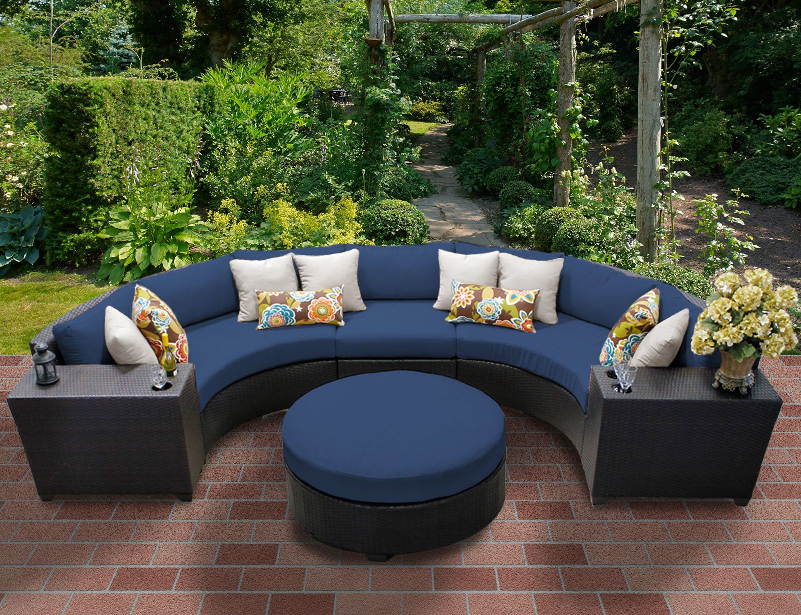 Most Recently Released Tegan Patio Sofas With Cushions With Regard To Tegan 6 Piece Sectional Seating Group With Cushions (View 9 of 25)