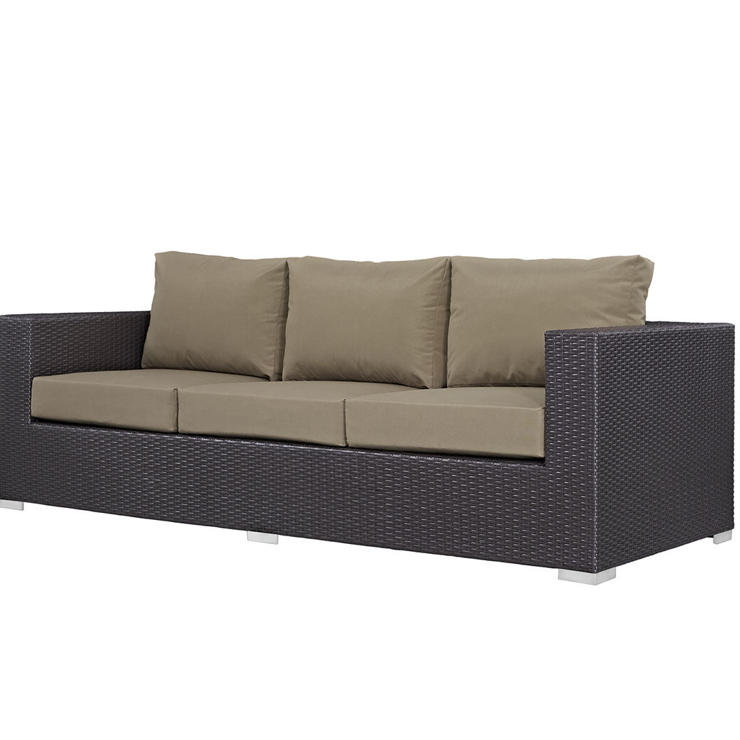 Most Up To Date Brentwood Patio Sofa With Cushions Intended For Eldora Patio Sectionals With Cushions (View 13 of 25)