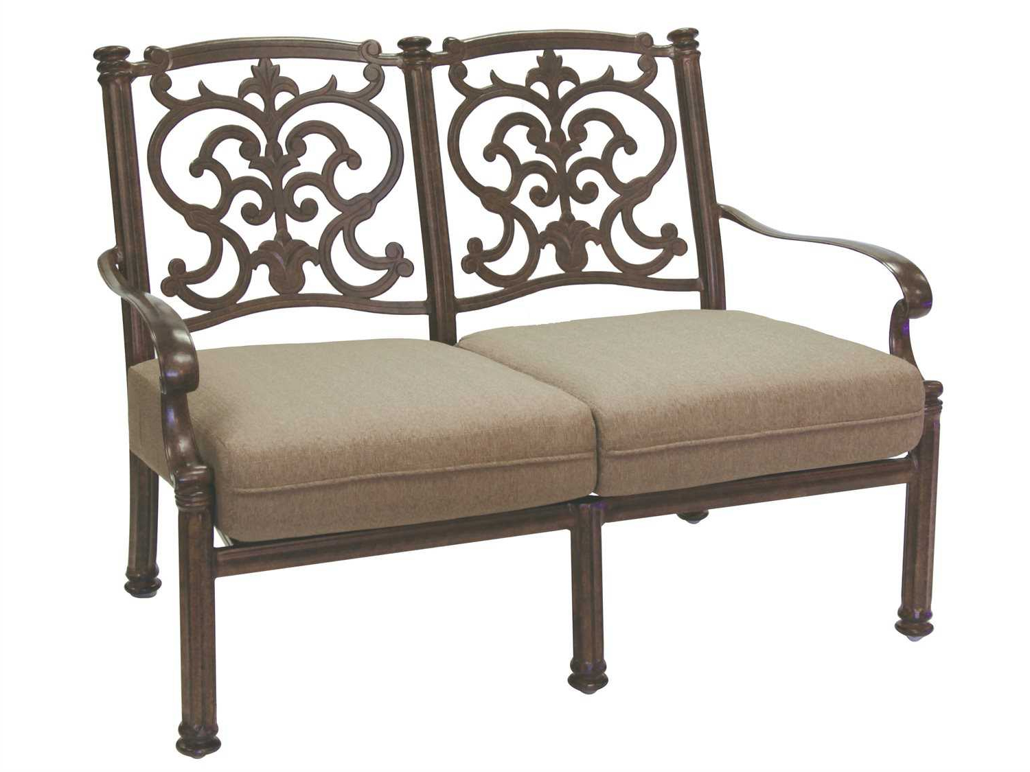 Most Up To Date Darlee Outdoor Living Santa Barbara Replacement Loveseat Seat And Back Cushion Pertaining To Van Dyke Loveseats (View 10 of 25)