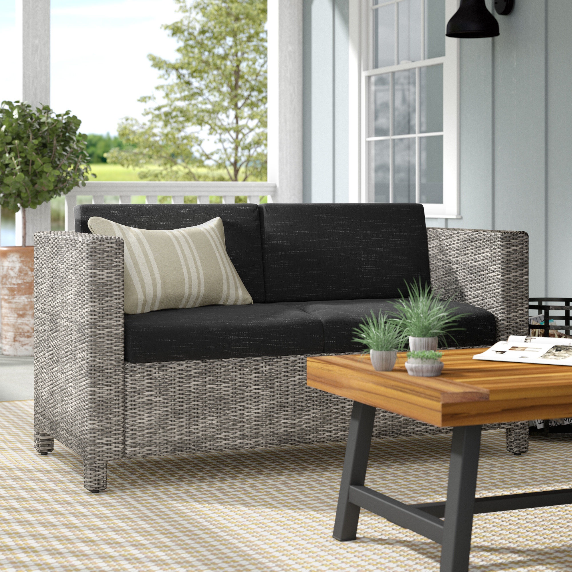 Most Up To Date Furst Outdoor Loveseat With Cushions Regarding Furst Outdoor Loveseats With Cushions (View 5 of 25)