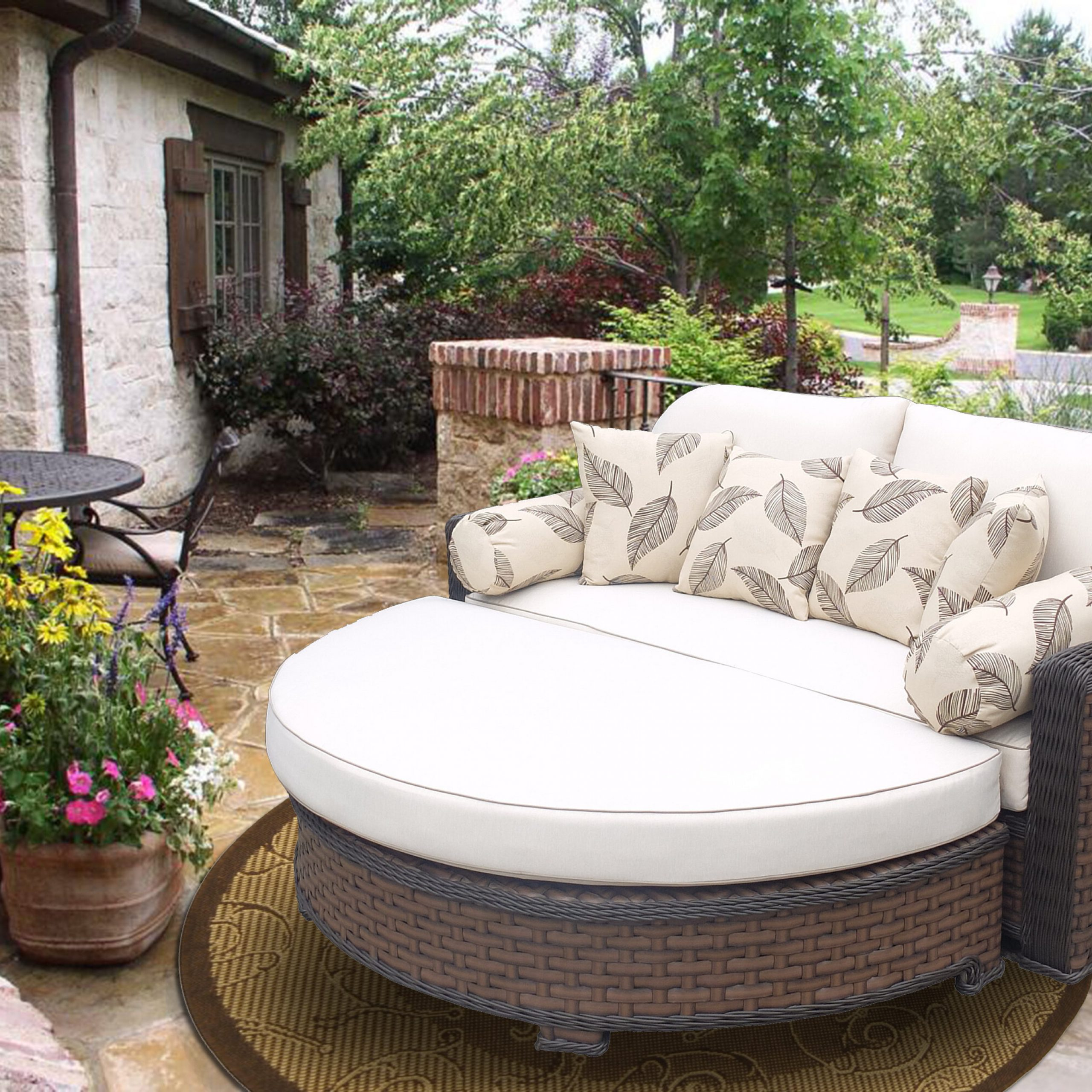 Most Up To Date Gaia Premium Daybed With Cushions Regarding Naperville Patio Daybeds With Cushion (Gallery 23 of 25)
