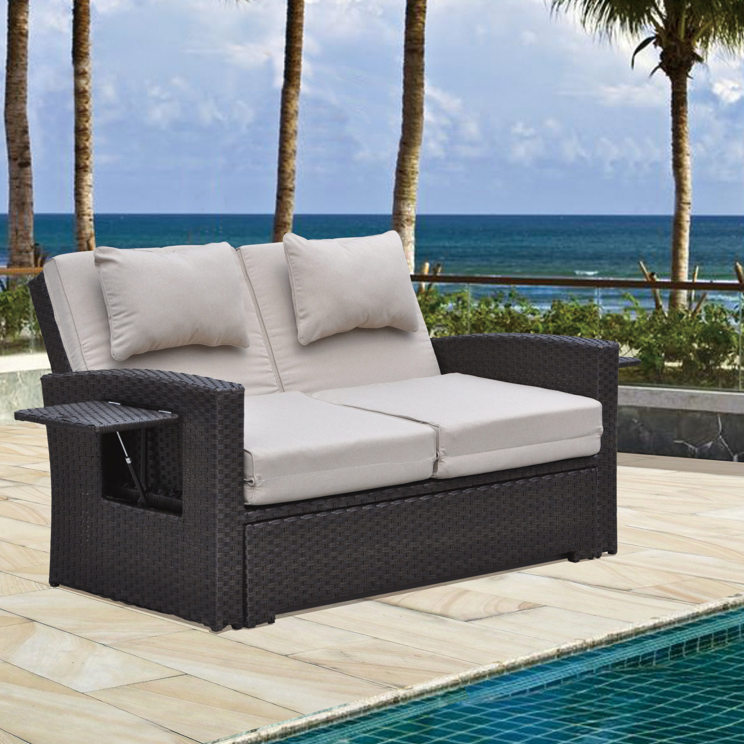 Most Up To Date Latitude Run Betts Outdoor Loveseat With Cushions (View 22 of 25)