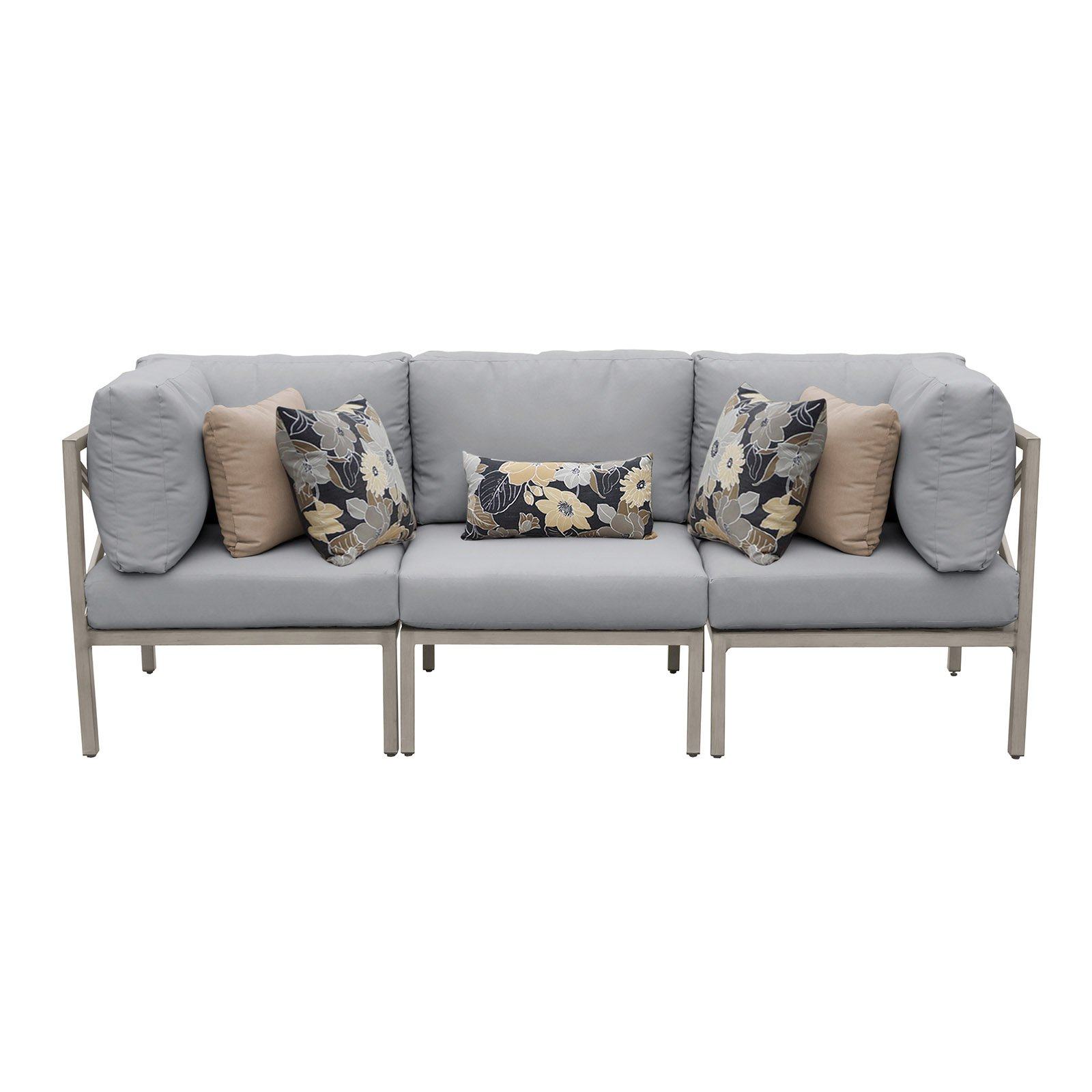 Most Up To Date Tk Classics Carlisle Aluminum 3 Piece Patio Sofa Intended For Carlisle Patio Sofas With Cushions (Gallery 22 of 25)