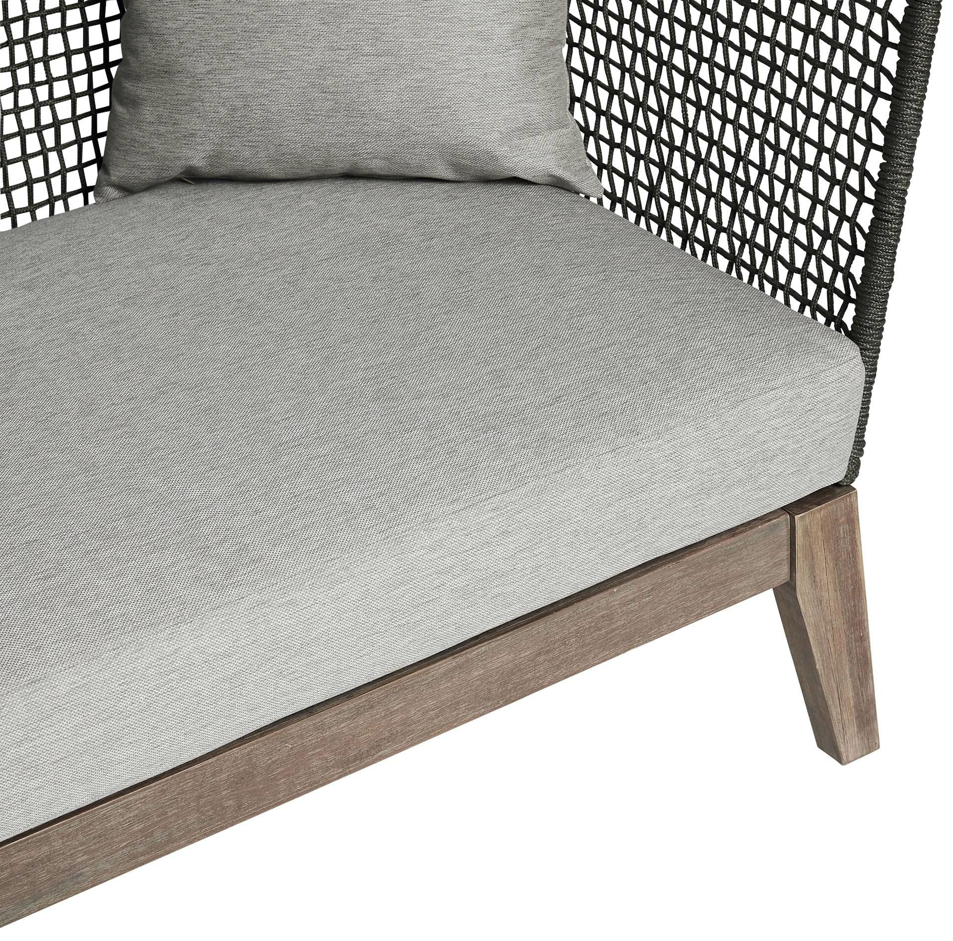 Netta Patio Sofa With Cushion Intended For Famous Jamilla Teak Patio Sofas With Cushion (View 18 of 25)