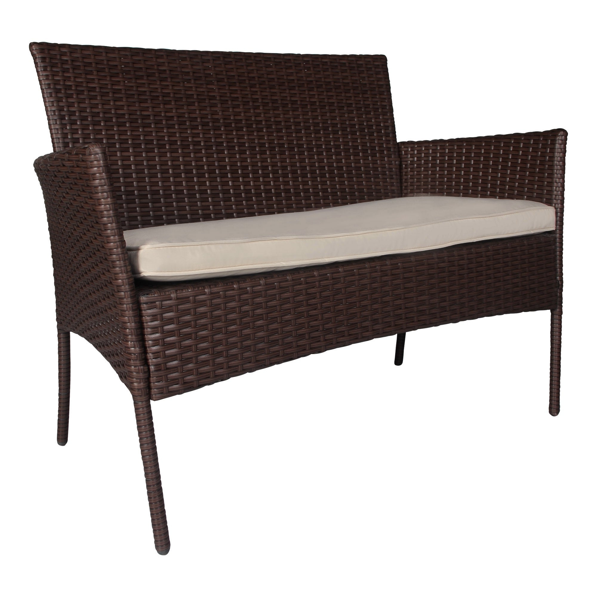 Newest Boyce Outdoor Patio Sectionals With Cushions Within Boyce 4 Piece Wicker Rattan Conversation Set (View 20 of 25)