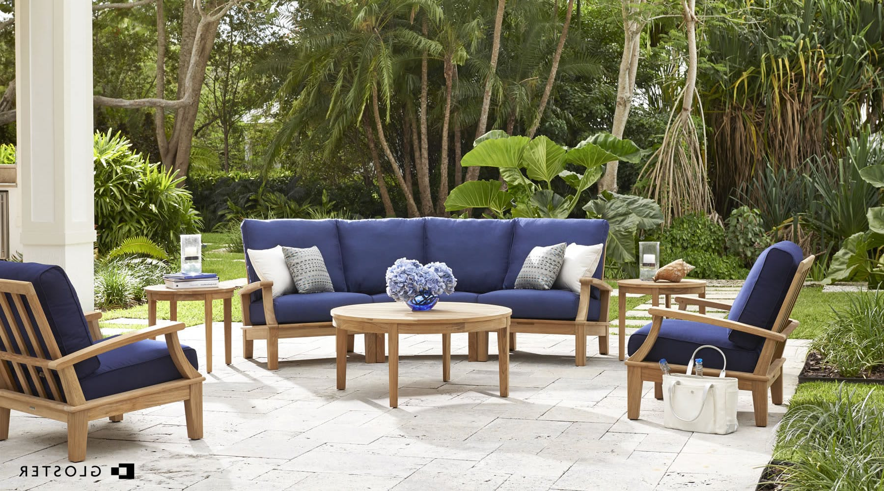 Newest Furnish Your Outdoor Space With High Quality Teak Furniture Within Kincaid Teak Patio Sofas With Sunbrella Cushions (Gallery 21 of 25)