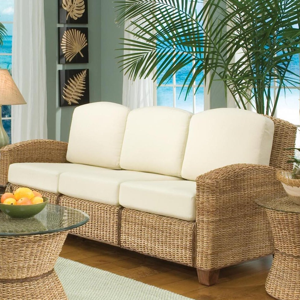 Newest Hollier Patio Sofa With Cushions Regarding Fannin Patio Sofas With Cushions (View 18 of 25)