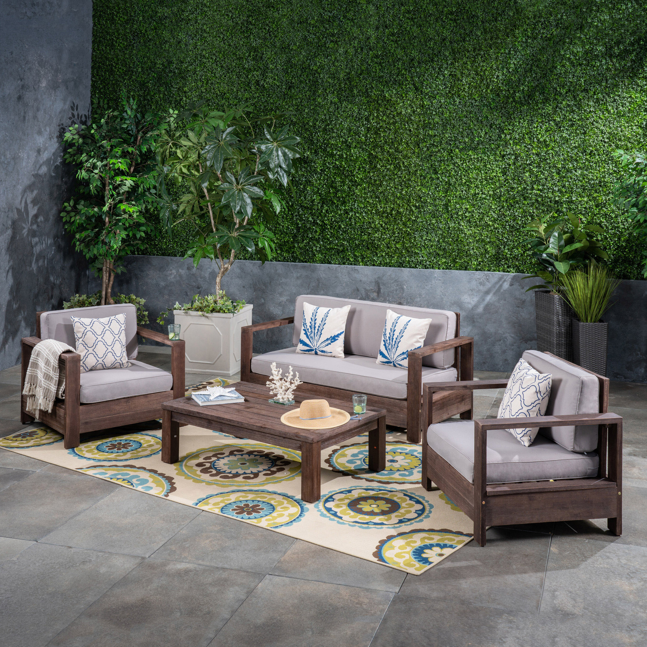 Newest Landis Loveseats With Cushions Regarding Landis 4 Piece Sofa Seating Group With Cushions (View 3 of 25)