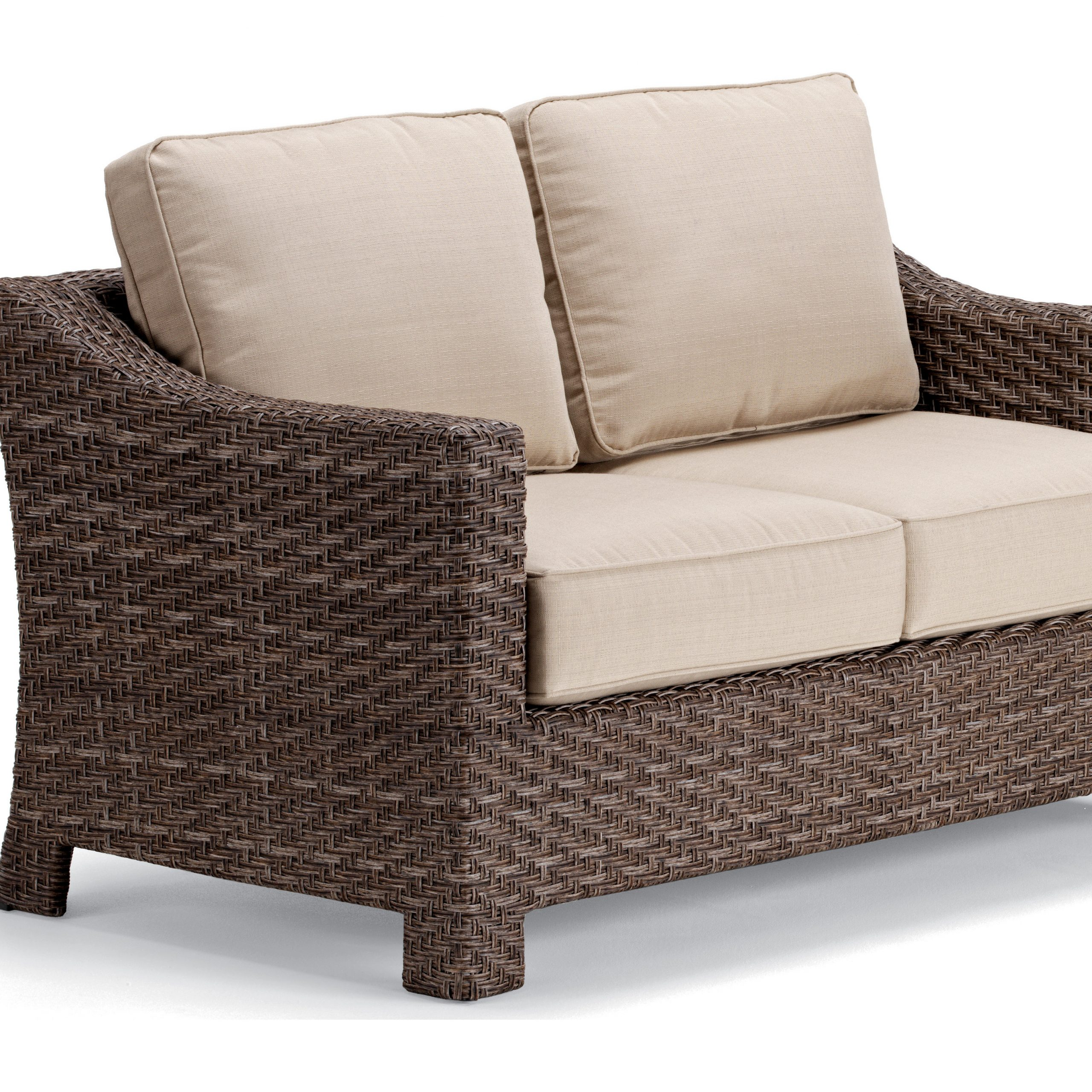 Oceanside Outdoor Wicker Loveseats With Cushions Pertaining To Most Popular Wicker Loveseat Patio Furniture – Telescope Casual Lake (View 10 of 25)