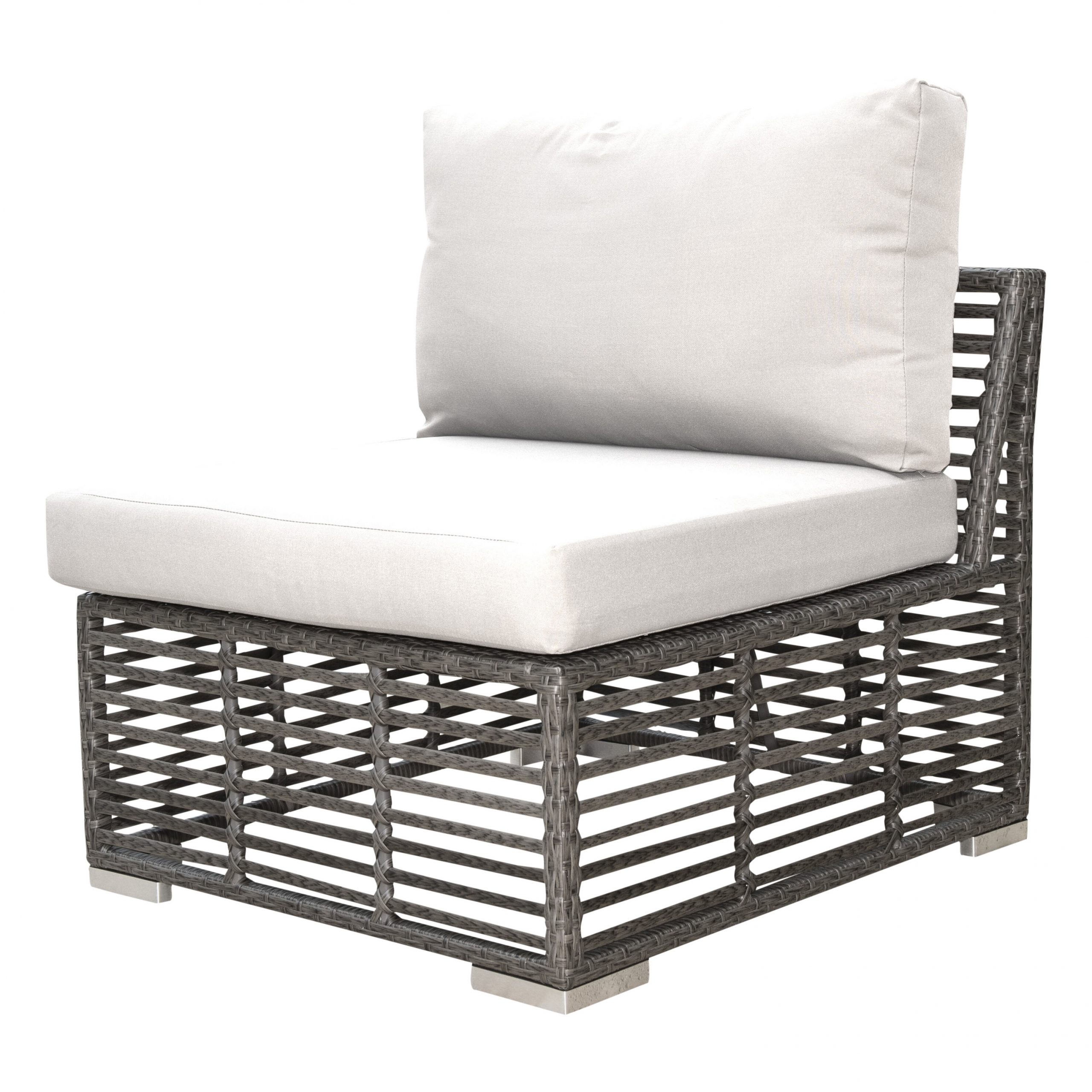 Oceanside Outdoor Wicker Loveseats With Cushions Throughout Trendy Graphite Modular Patio Chair With Cushion (View 14 of 25)