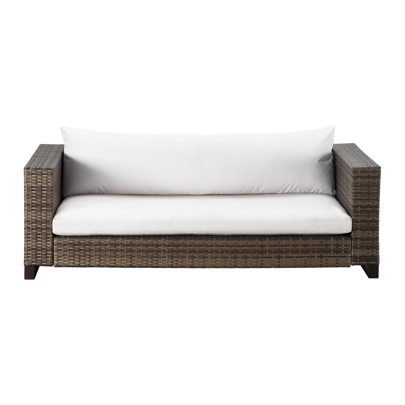 Oceanside Outdoor Wicker Loveseats With Cushions With Best And Newest Tommy Hilfiger Oceanside Outdoor Loveseat, Gray Wicker (View 15 of 25)