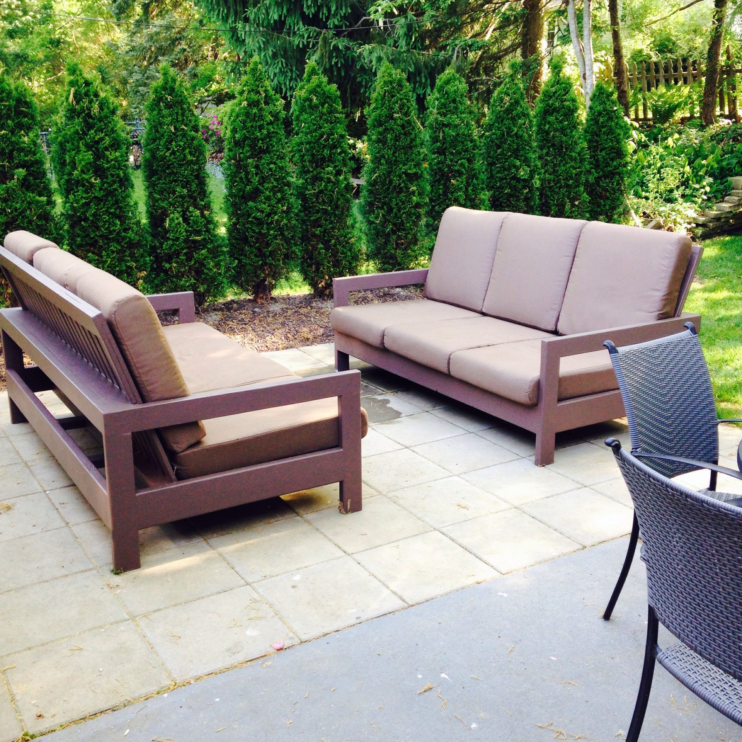O'kean Teak Patio Sofas With Cushions With Popular Outdoor Patio Couches (View 18 of 25)