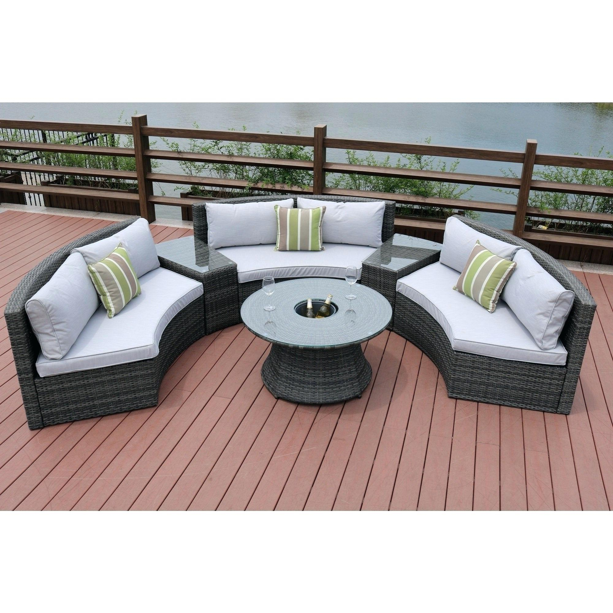 Ostrowski Outdoor Wicker Patio Sectional With Cushions Inside Favorite Ostrowski Patio Sectionals With Cushions (View 2 of 25)