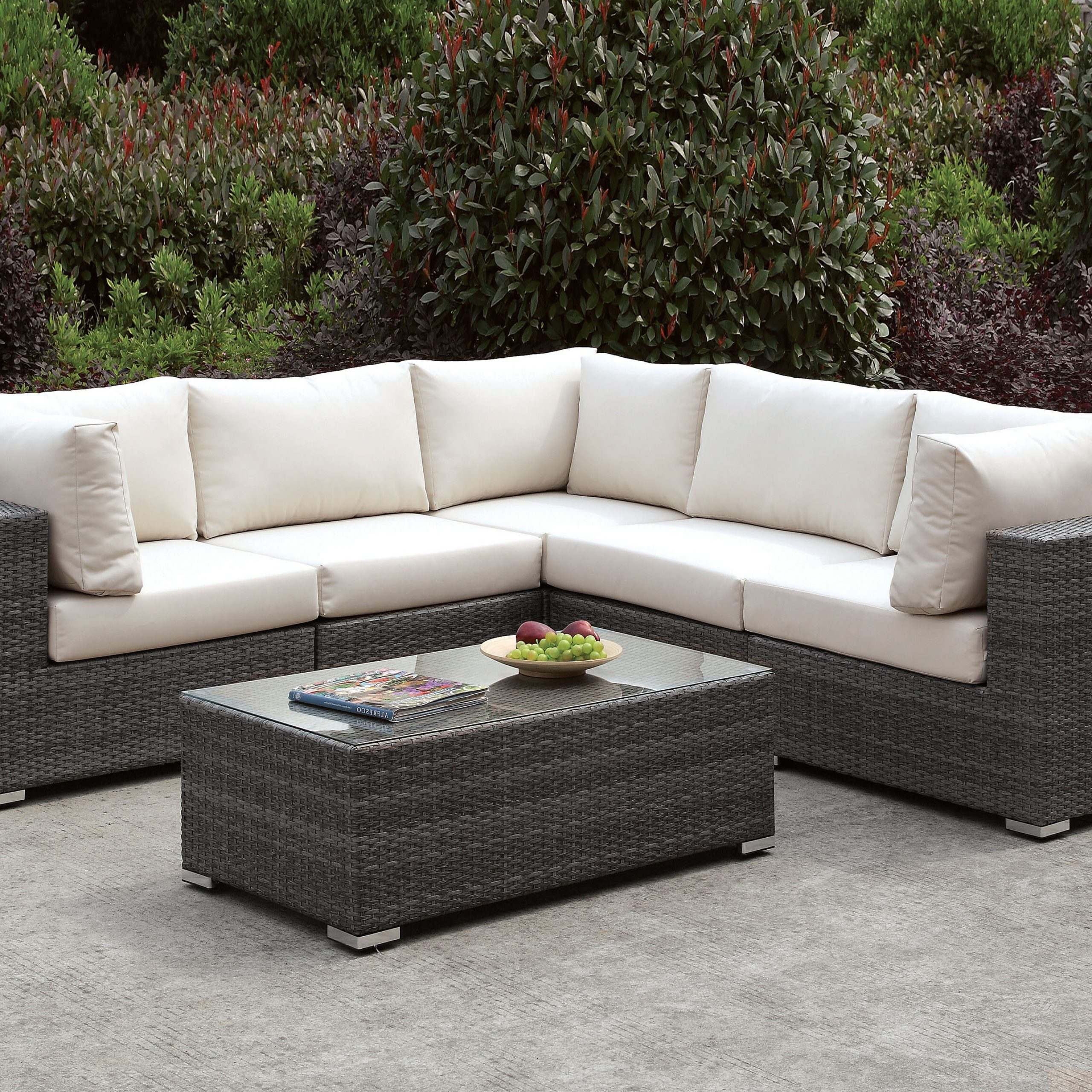 Ostrowski Patio Sectionals With Cushions For Most Recent Peters 3 Piece Sectional Collection (View 23 of 25)