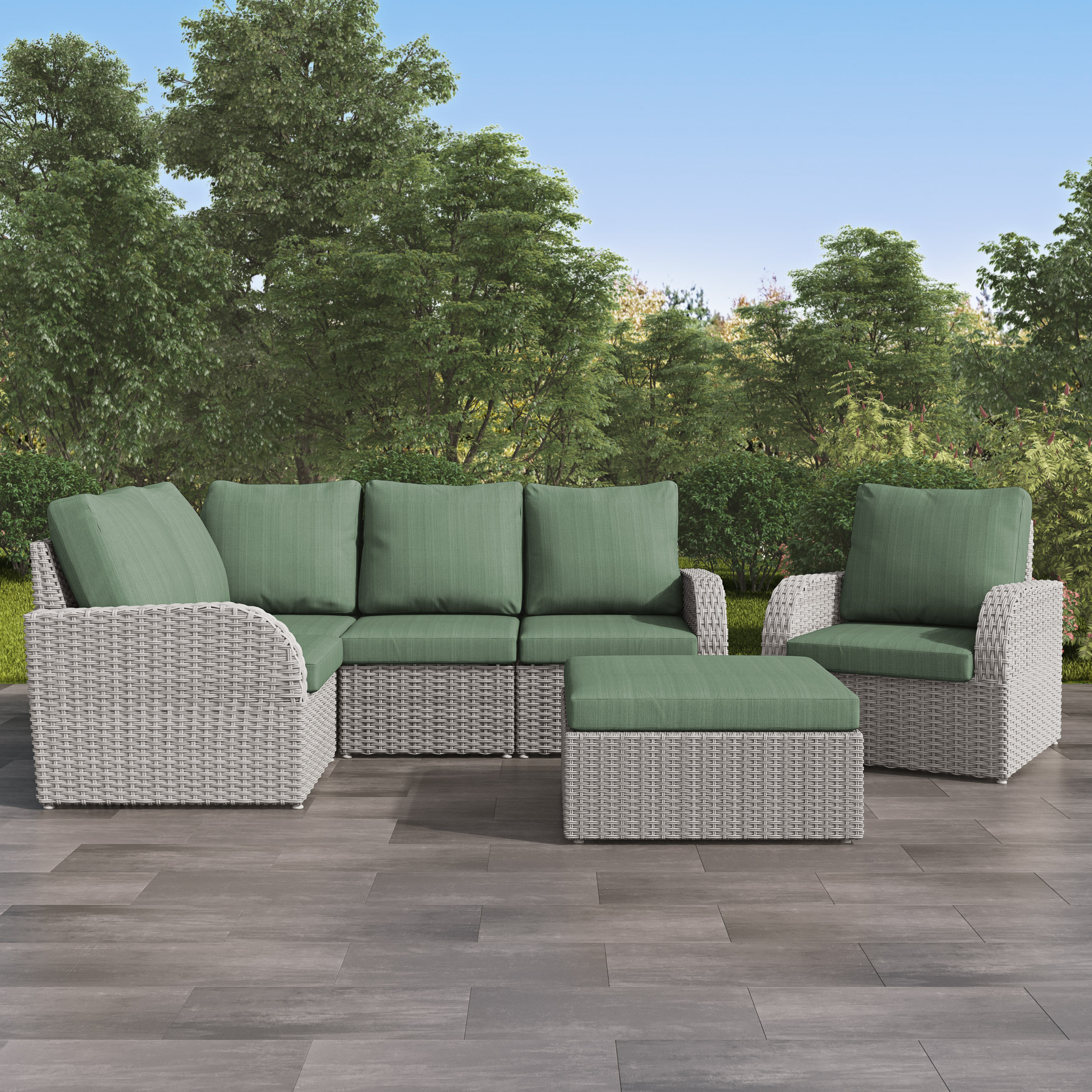 Ostrowski Patio Sectionals With Cushions Intended For Most Current Killingworth Patio Sectional With Cushions (Gallery 7 of 25)
